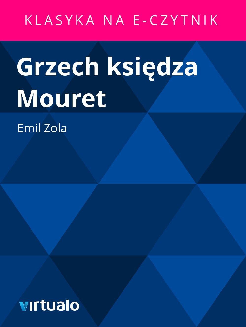 Grzech księdza Mouret - Ebook (Książka EPUB) do pobrania w formacie EPUB
