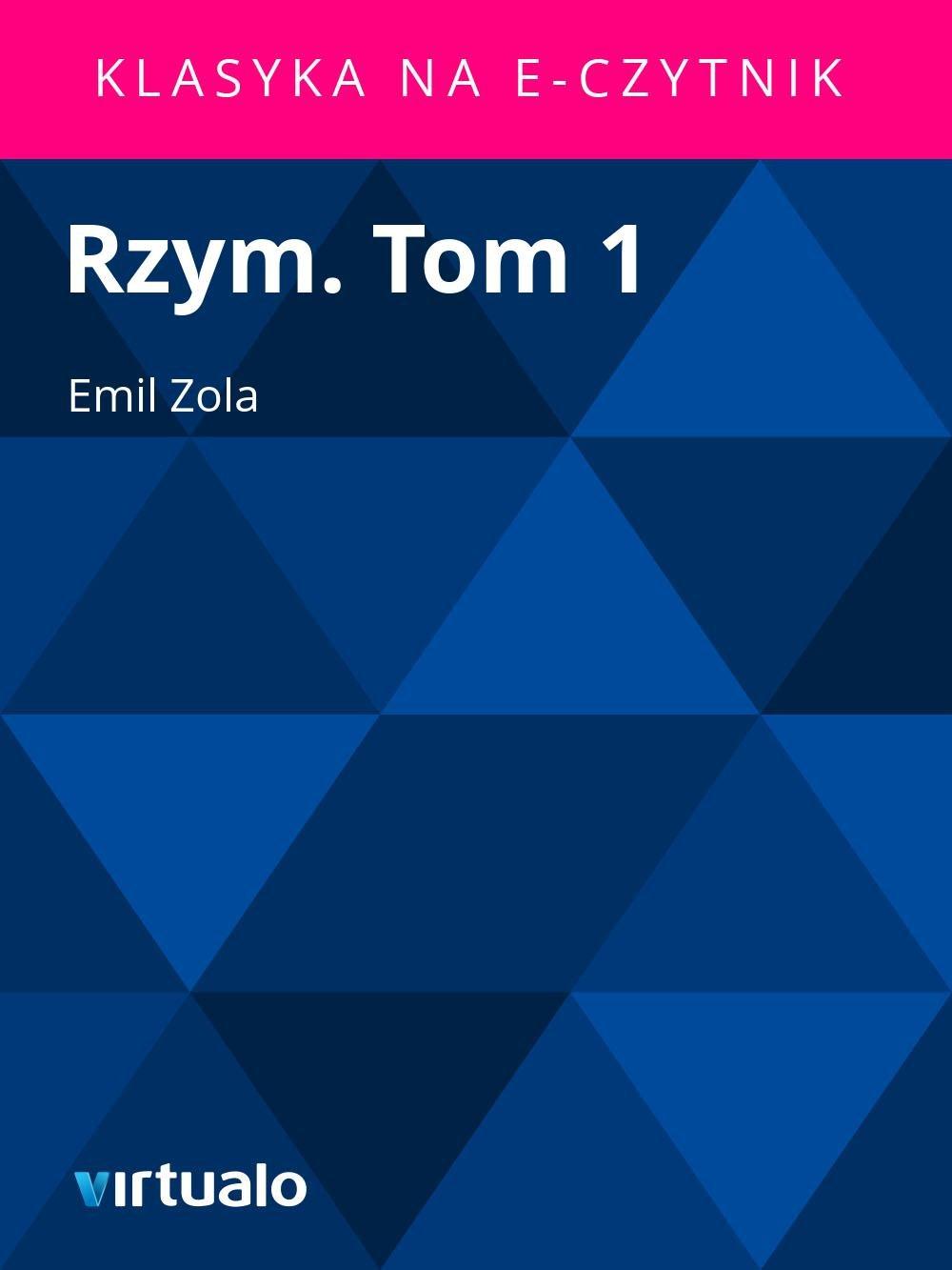 Rzym. Tom 1 - Ebook (Książka EPUB) do pobrania w formacie EPUB
