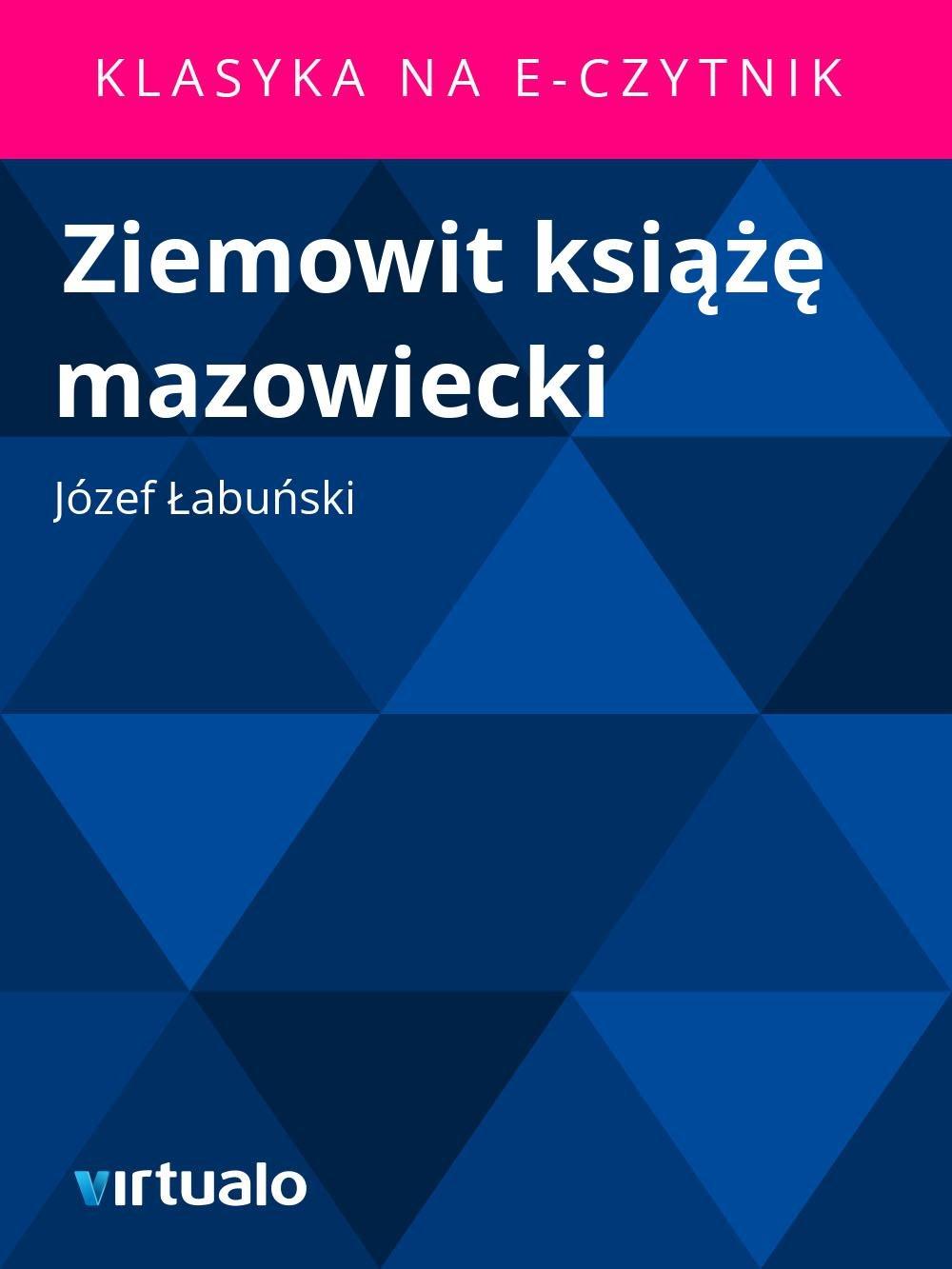 Ziemowit książę mazowiecki - Ebook (Książka EPUB) do pobrania w formacie EPUB