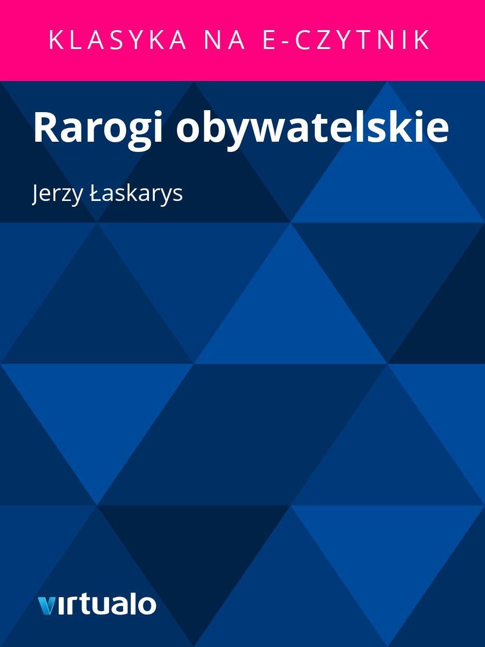 Rarogi obywatelskie - Ebook (Książka EPUB) do pobrania w formacie EPUB