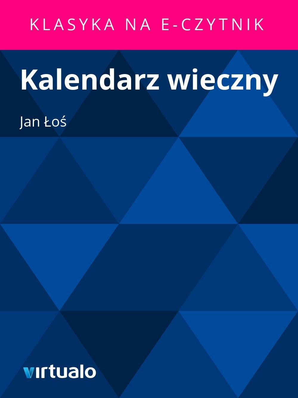 Kalendarz wieczny - Ebook (Książka EPUB) do pobrania w formacie EPUB