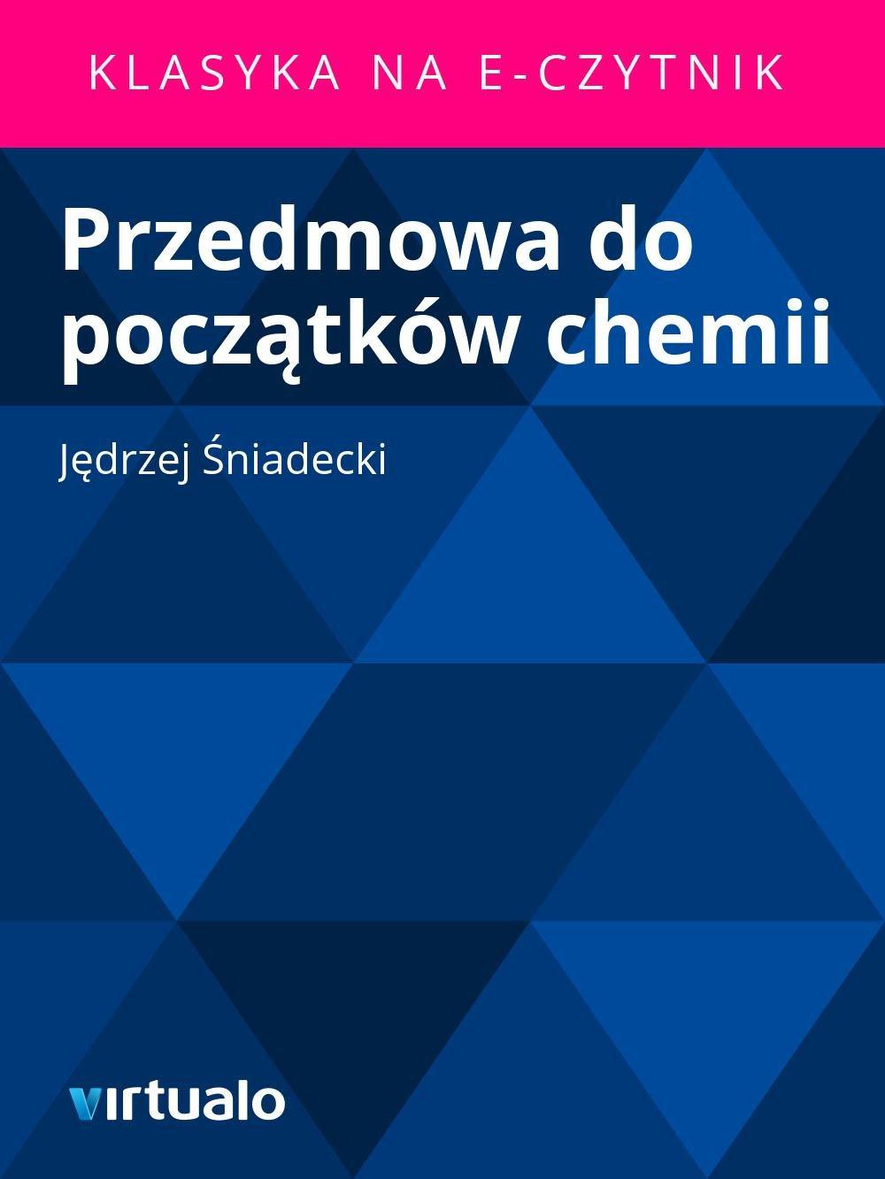 Przedmowa do początków chemii - Ebook (Książka EPUB) do pobrania w formacie EPUB