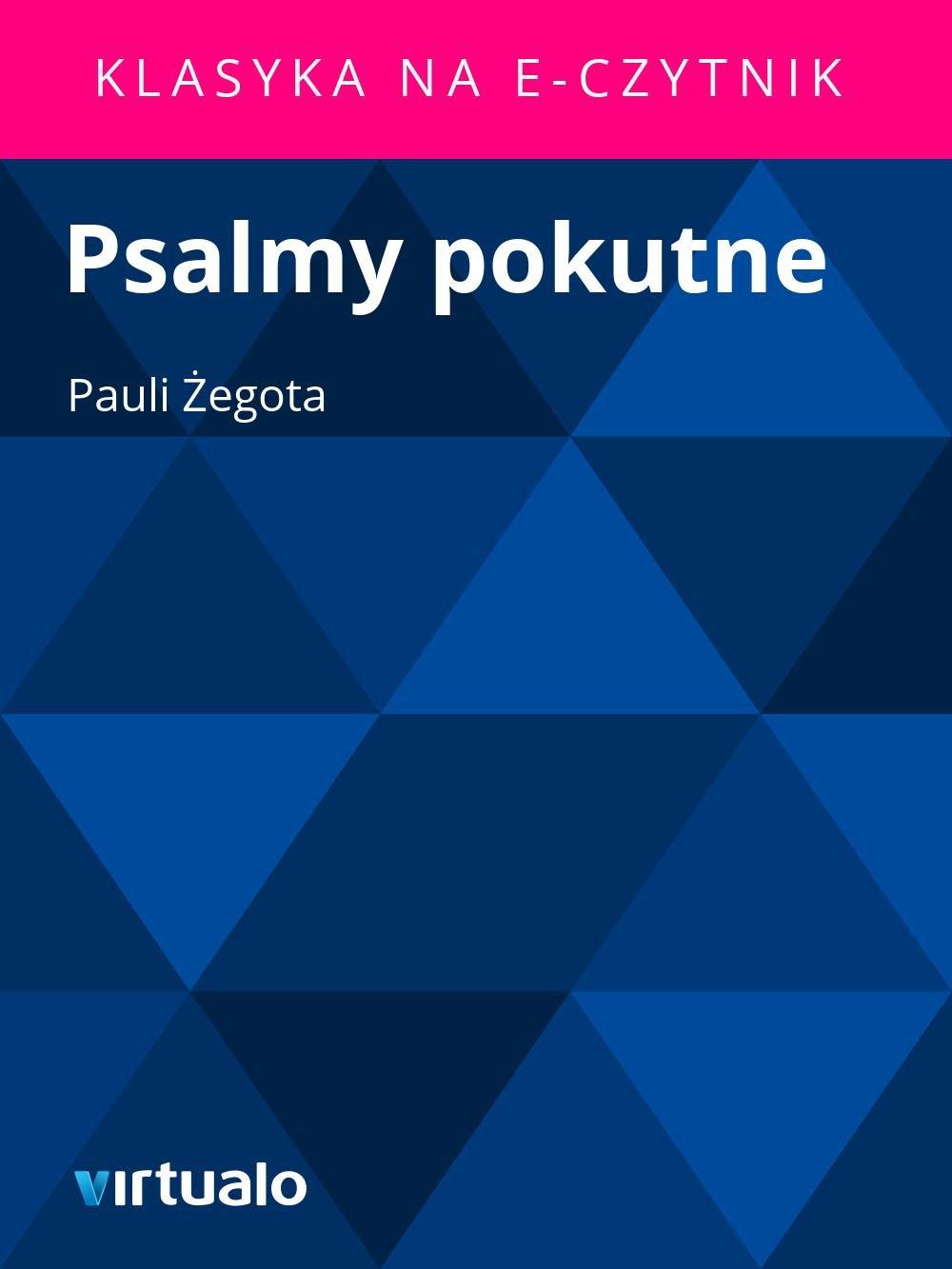 Psalmy pokutne - Ebook (Książka EPUB) do pobrania w formacie EPUB
