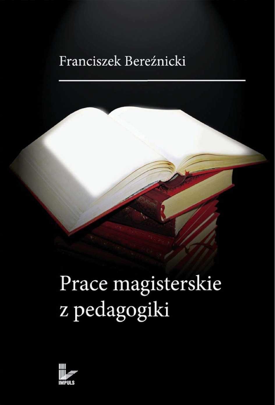 Prace magisterskie z pedagogiki - Ebook (Książka PDF) do pobrania w formacie PDF