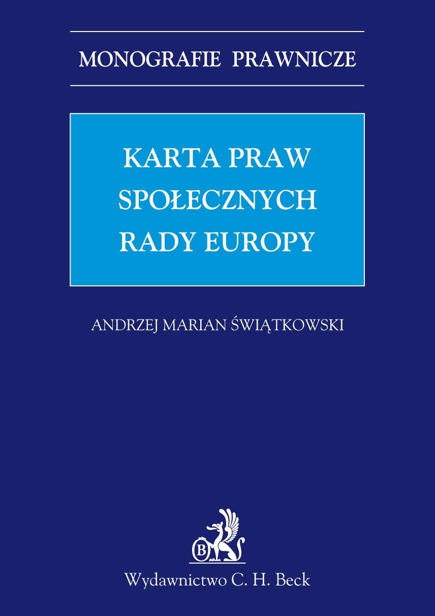 Karta praw społecznych Rady Europy - Ebook (Książka PDF) do pobrania w formacie PDF