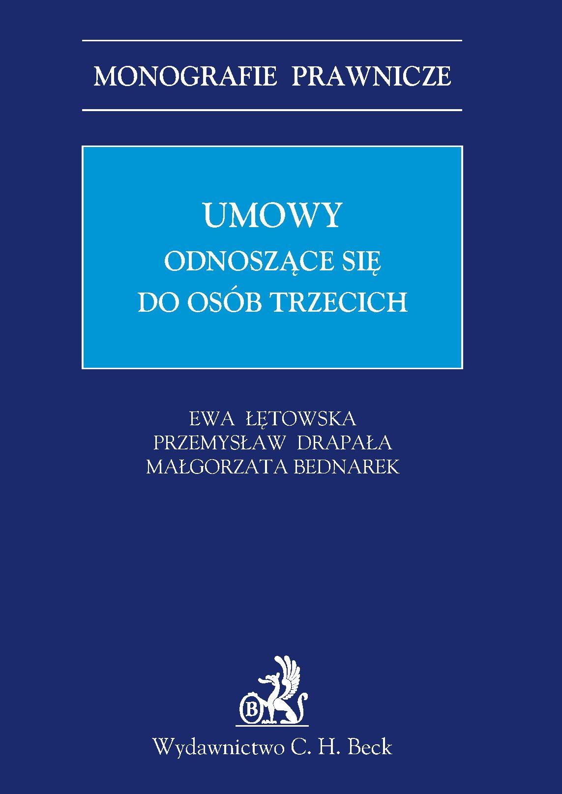 Umowy odnoszące się do osób trzecich - Ebook (Książka PDF) do pobrania w formacie PDF
