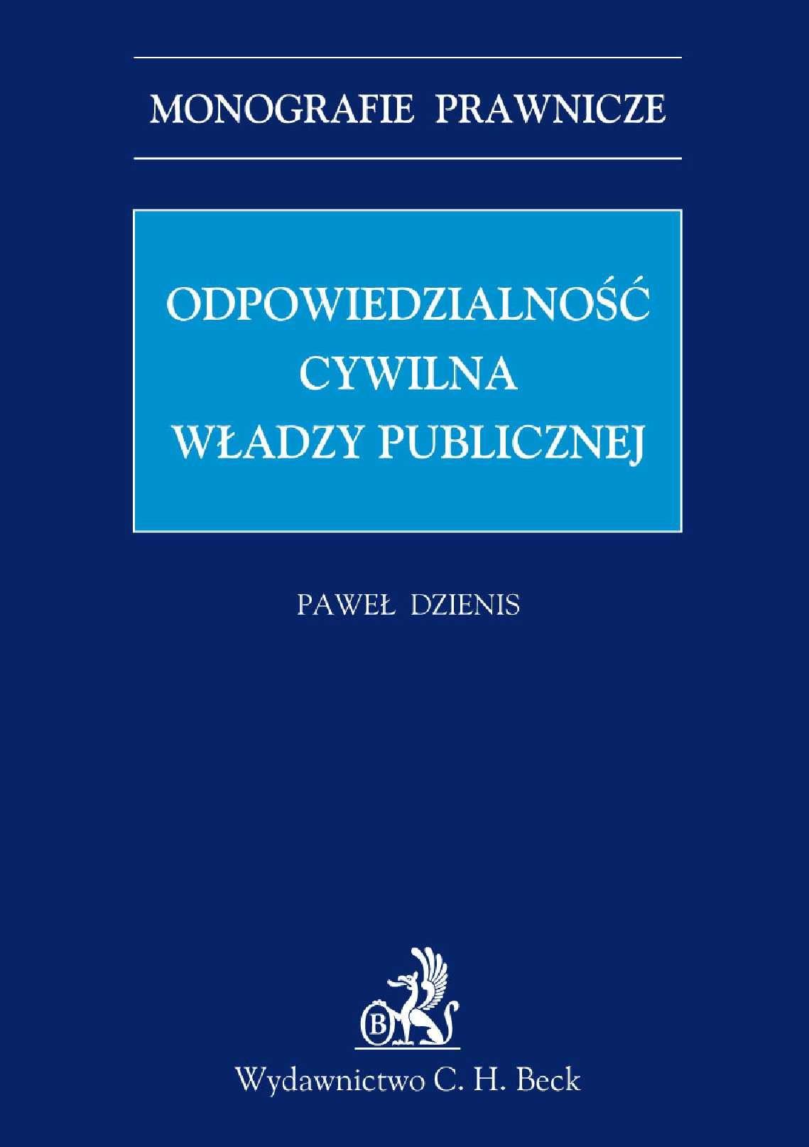 Odpowiedzialność cywilna władzy publicznej - Ebook (Książka PDF) do pobrania w formacie PDF