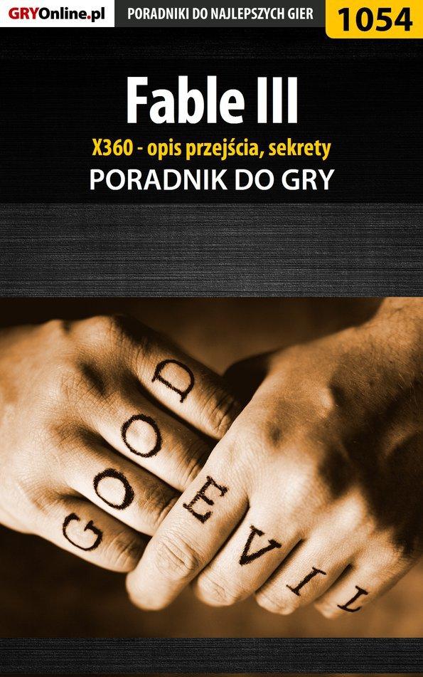 Fable III - X360 - poradnik, opis przejścia, sekrety - Ebook (Książka PDF) do pobrania w formacie PDF