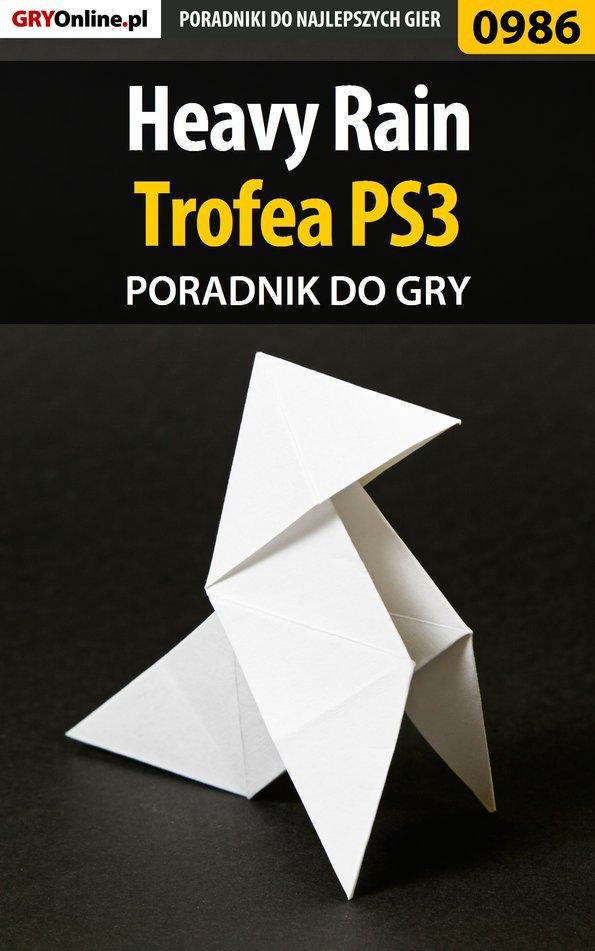 Heavy Rain - trofea - poradnik do gry - Ebook (Książka PDF) do pobrania w formacie PDF