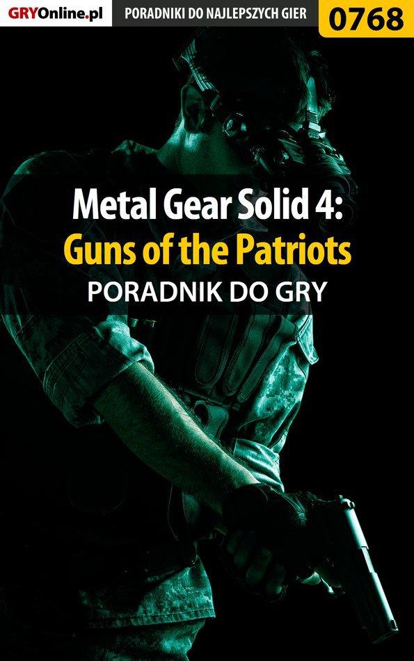 Metal Gear Solid 4: Guns of the Patriots - poradnik do gry - Ebook (Książka PDF) do pobrania w formacie PDF