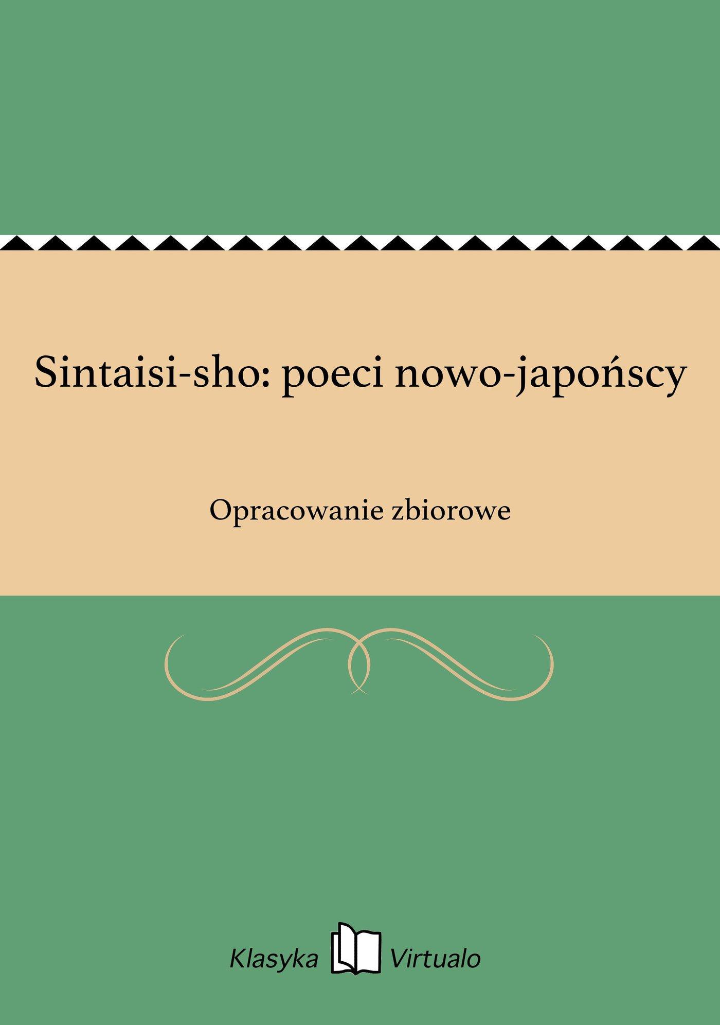 Sintaisi-sho: poeci nowo-japońscy - Ebook (Książka EPUB) do pobrania w formacie EPUB