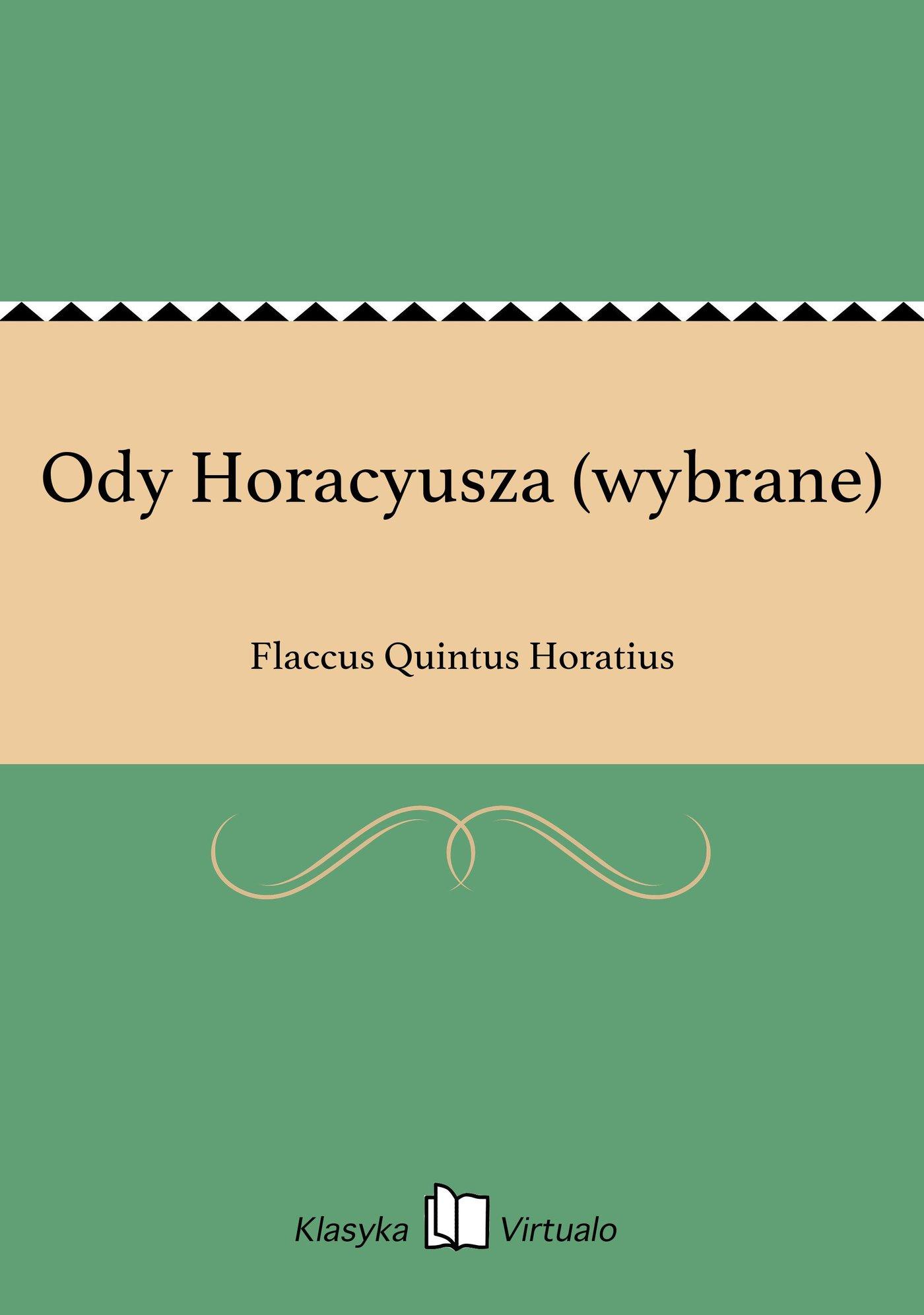 Ody Horacyusza (wybrane) - Ebook (Książka EPUB) do pobrania w formacie EPUB