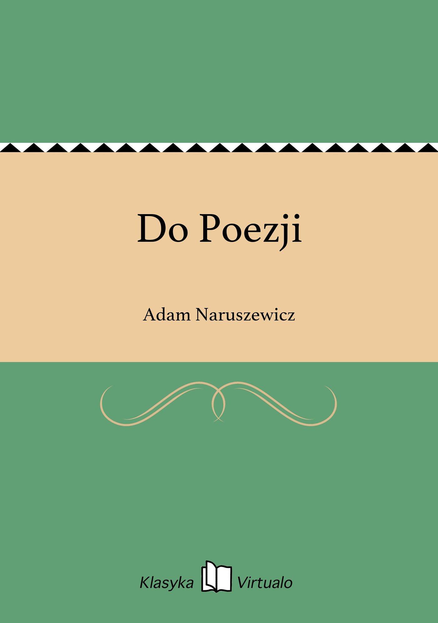 Do Poezji - Ebook (Książka EPUB) do pobrania w formacie EPUB