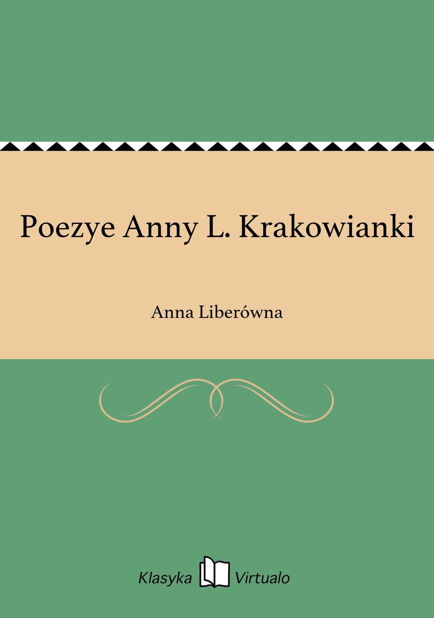 Poezye Anny L. Krakowianki - Ebook (Książka EPUB) do pobrania w formacie EPUB