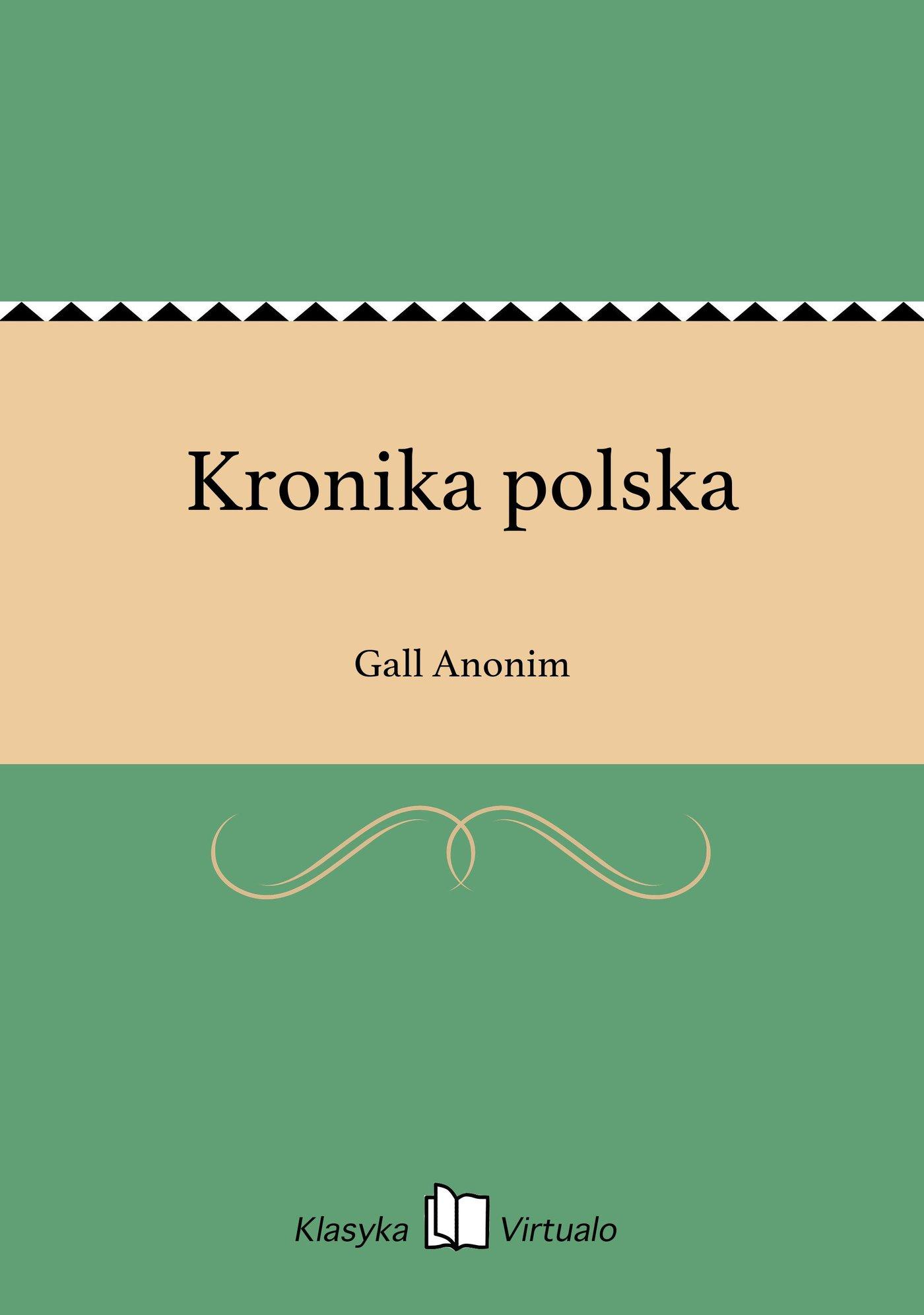 Kronika polska - Ebook (Książka EPUB) do pobrania w formacie EPUB