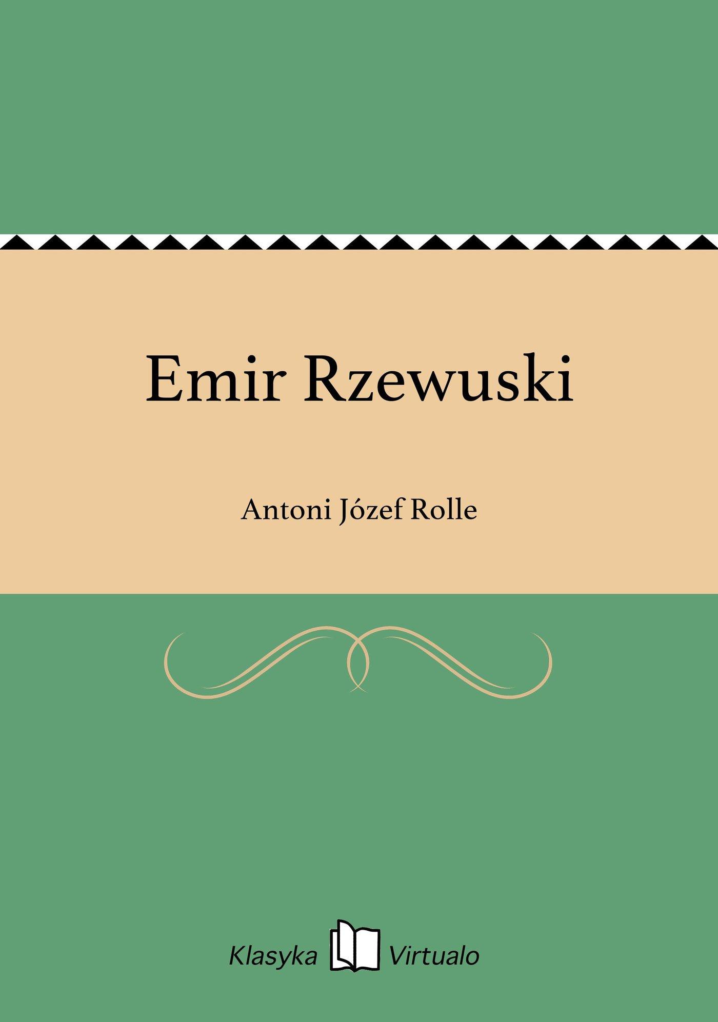 Emir Rzewuski - Ebook (Książka EPUB) do pobrania w formacie EPUB