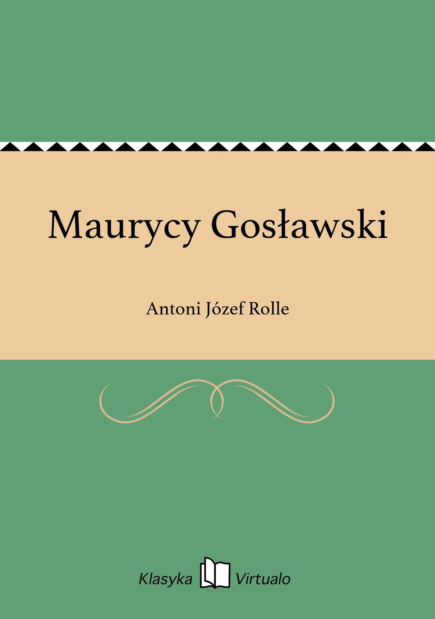 Maurycy Gosławski - Ebook (Książka EPUB) do pobrania w formacie EPUB