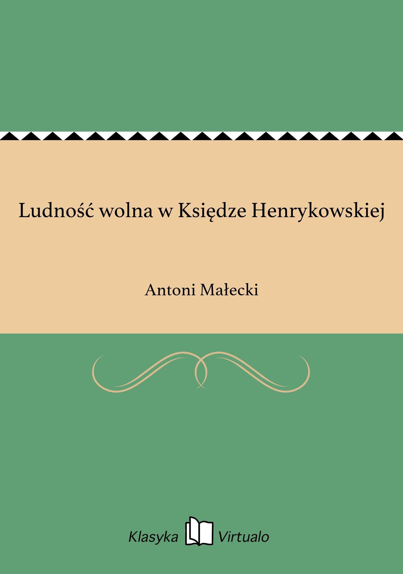 Ludność wolna w Księdze Henrykowskiej - Ebook (Książka EPUB) do pobrania w formacie EPUB