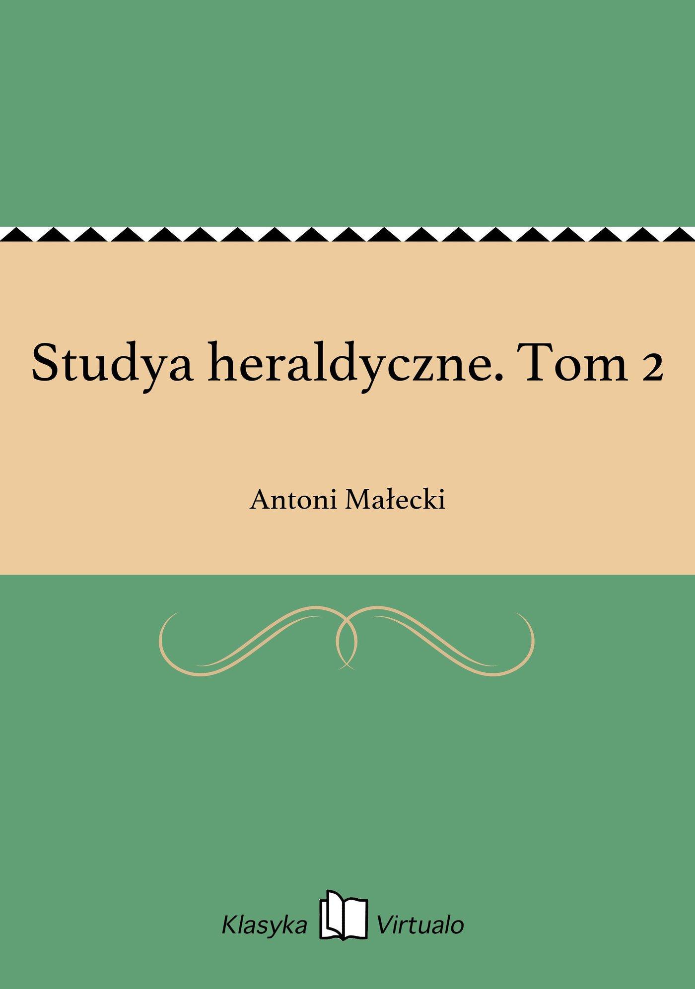 Studya heraldyczne. Tom 2 - Ebook (Książka EPUB) do pobrania w formacie EPUB