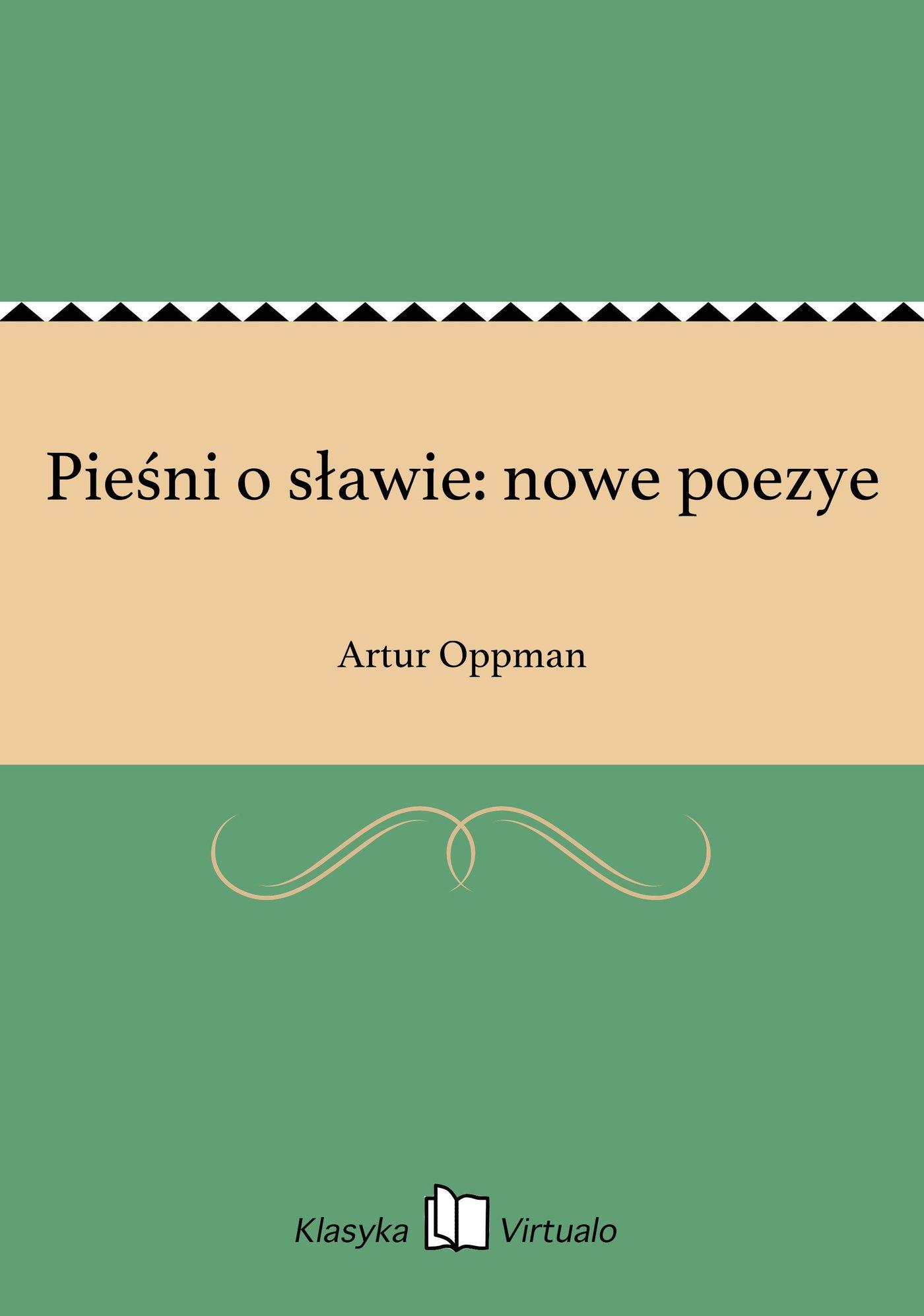 Pieśni o sławie: nowe poezye - Ebook (Książka EPUB) do pobrania w formacie EPUB