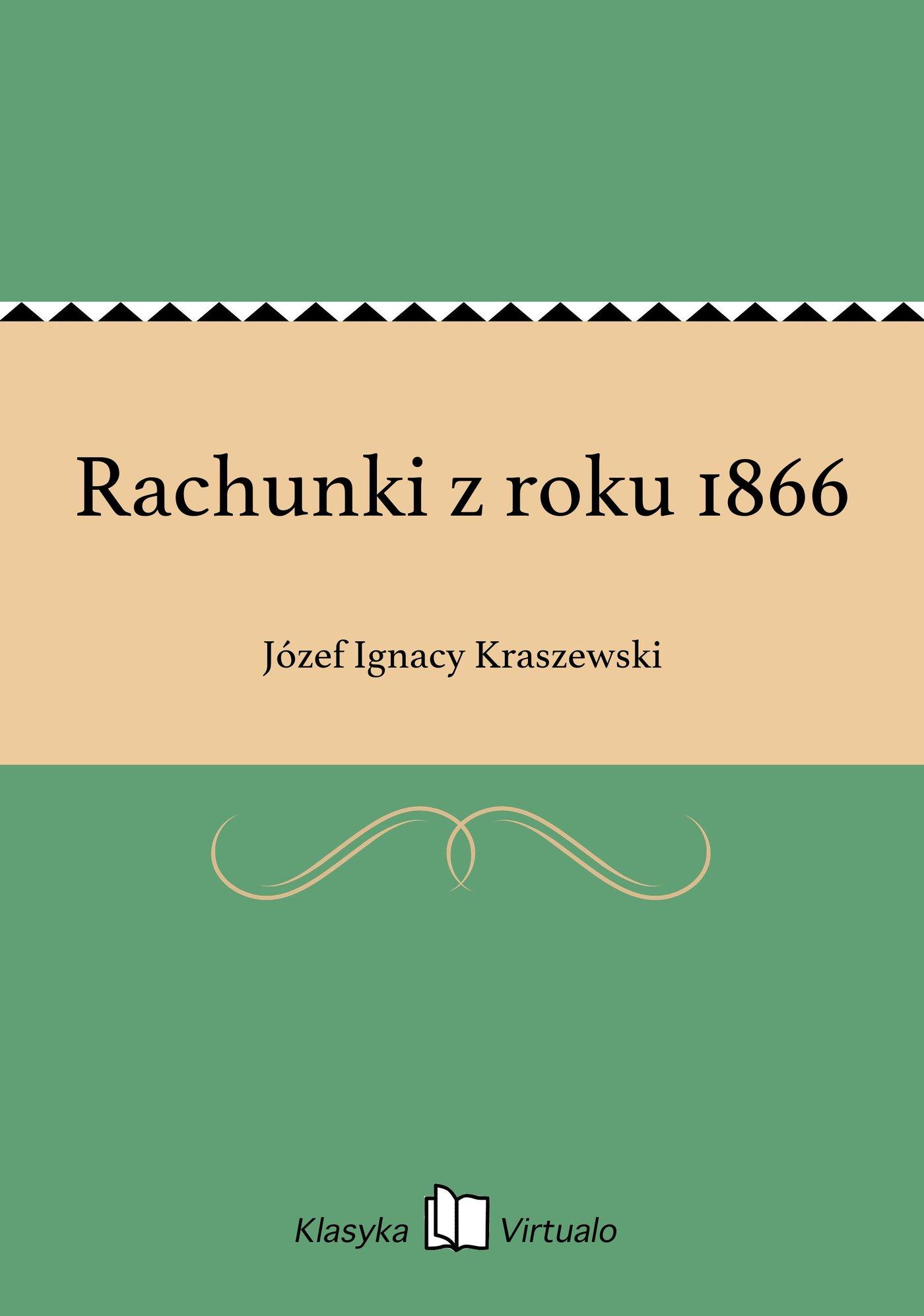 Rachunki z roku 1866 - Ebook (Książka EPUB) do pobrania w formacie EPUB