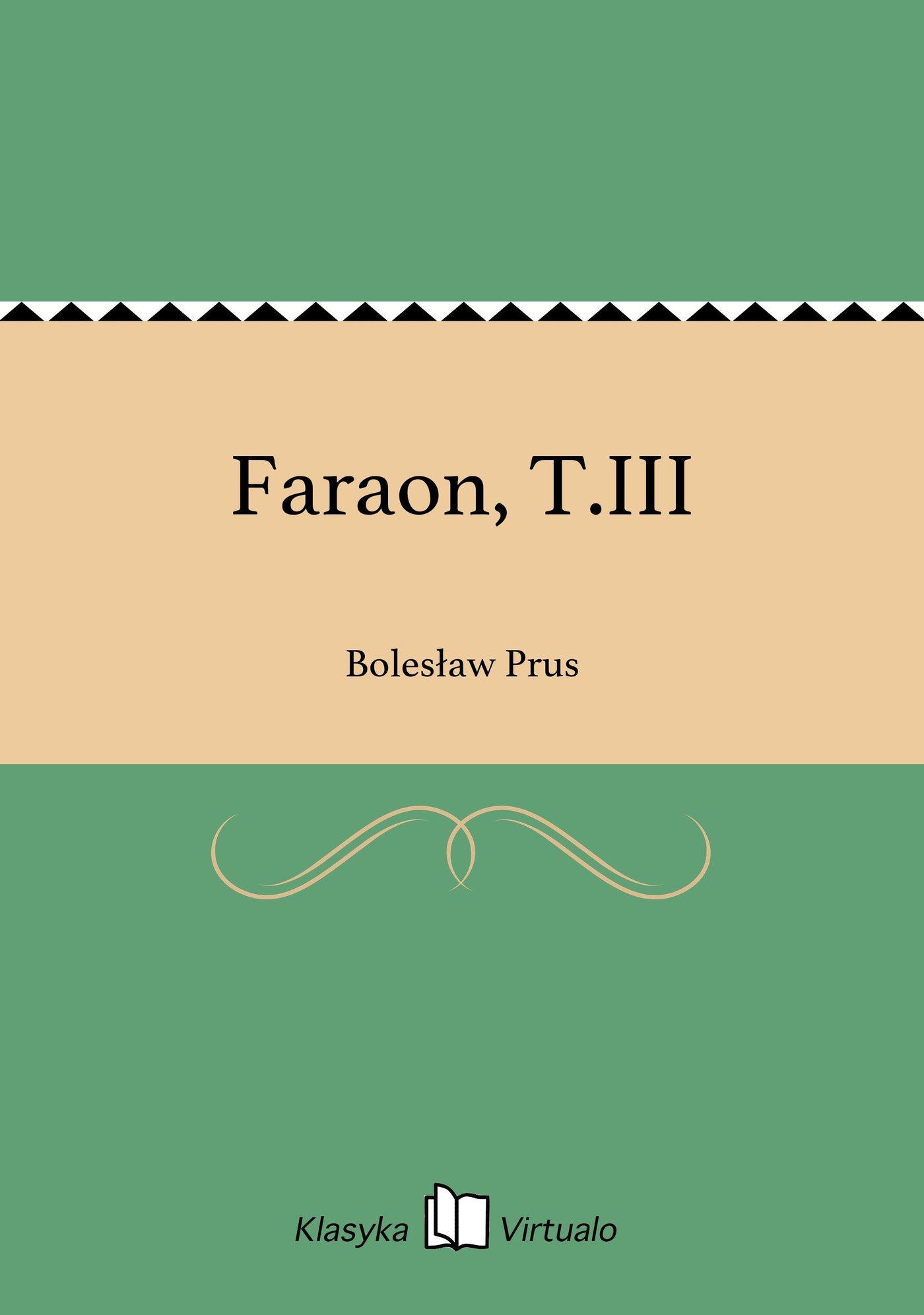 Faraon, T.III - Ebook (Książka EPUB) do pobrania w formacie EPUB