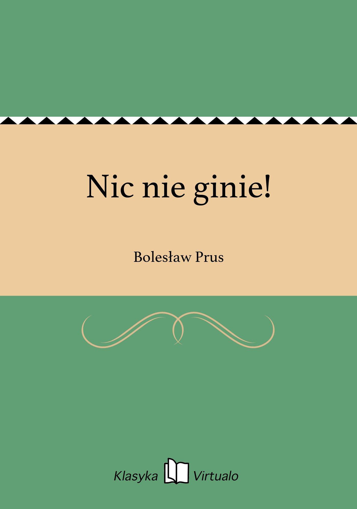 Nic nie ginie! - Ebook (Książka EPUB) do pobrania w formacie EPUB