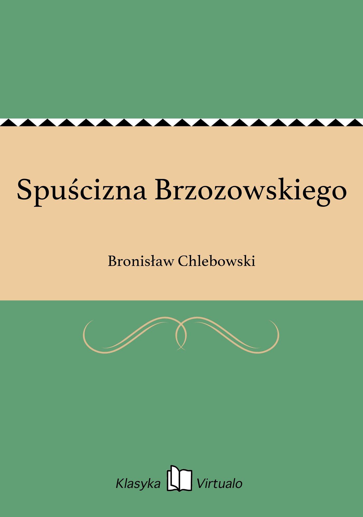 Spuścizna Brzozowskiego - Ebook (Książka EPUB) do pobrania w formacie EPUB