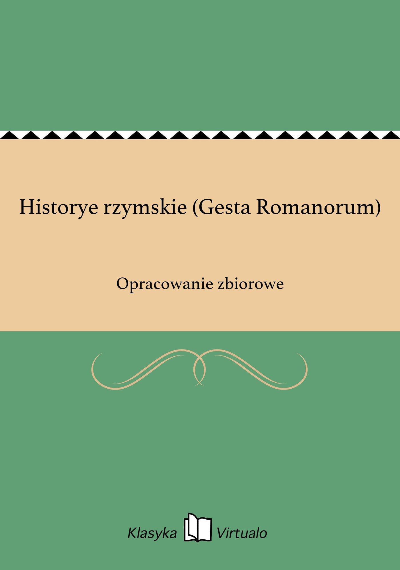Historye rzymskie (Gesta Romanorum) - Ebook (Książka EPUB) do pobrania w formacie EPUB