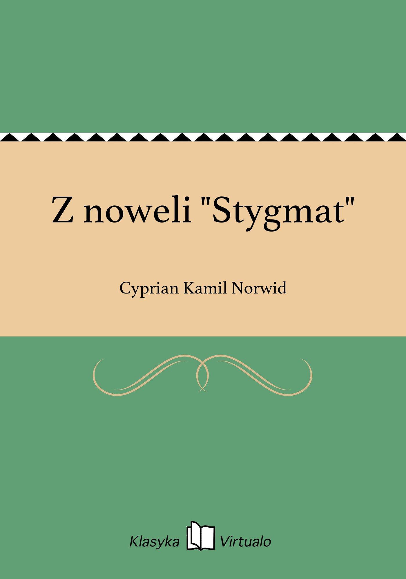 """Z noweli """"Stygmat"""" - Ebook (Książka EPUB) do pobrania w formacie EPUB"""