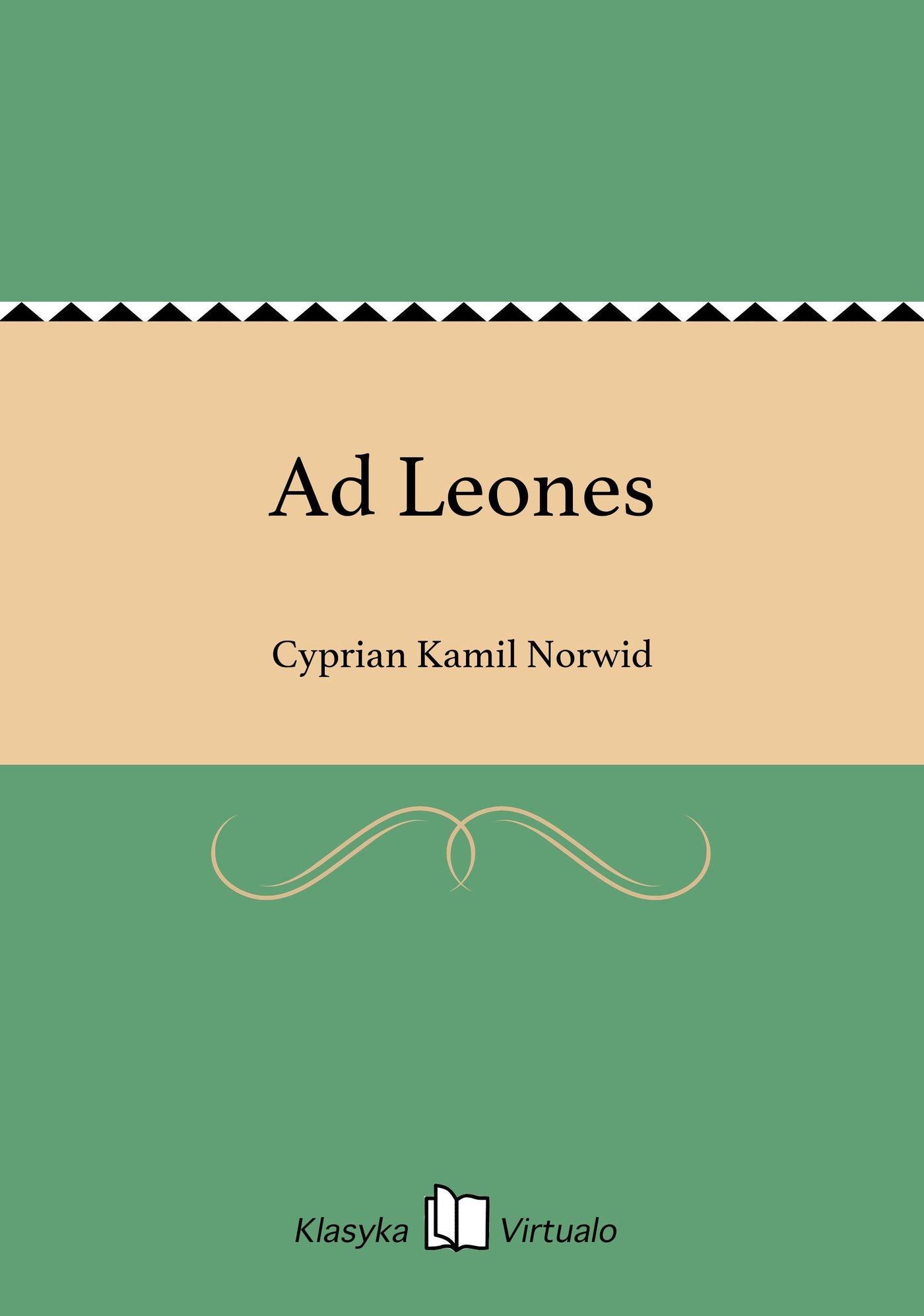 Ad Leones - Ebook (Książka EPUB) do pobrania w formacie EPUB