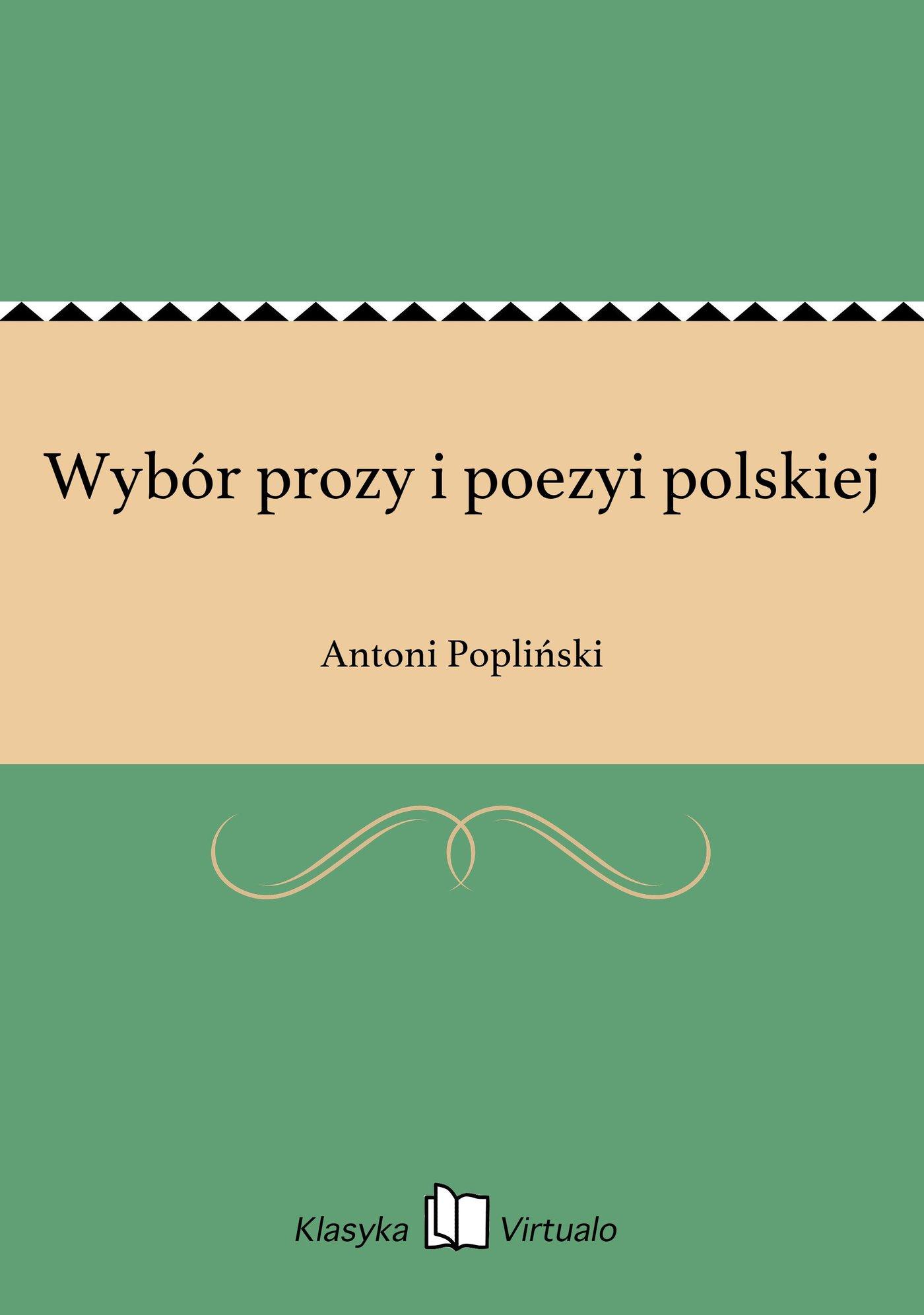 Wybór prozy i poezyi polskiej - Ebook (Książka EPUB) do pobrania w formacie EPUB