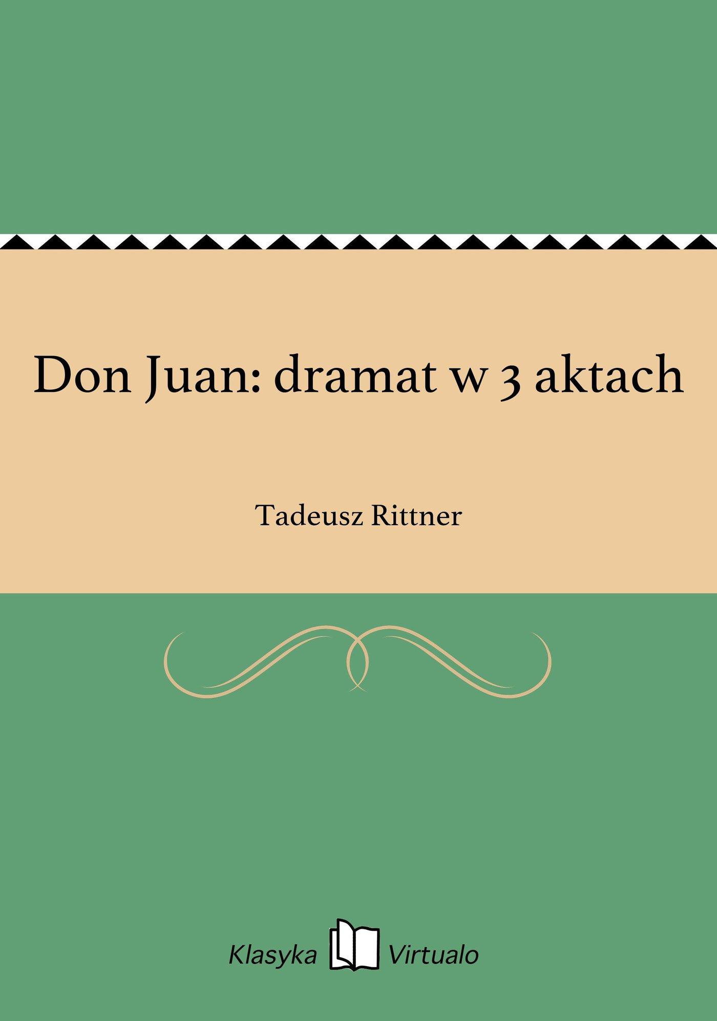 Don Juan: dramat w 3 aktach - Ebook (Książka EPUB) do pobrania w formacie EPUB