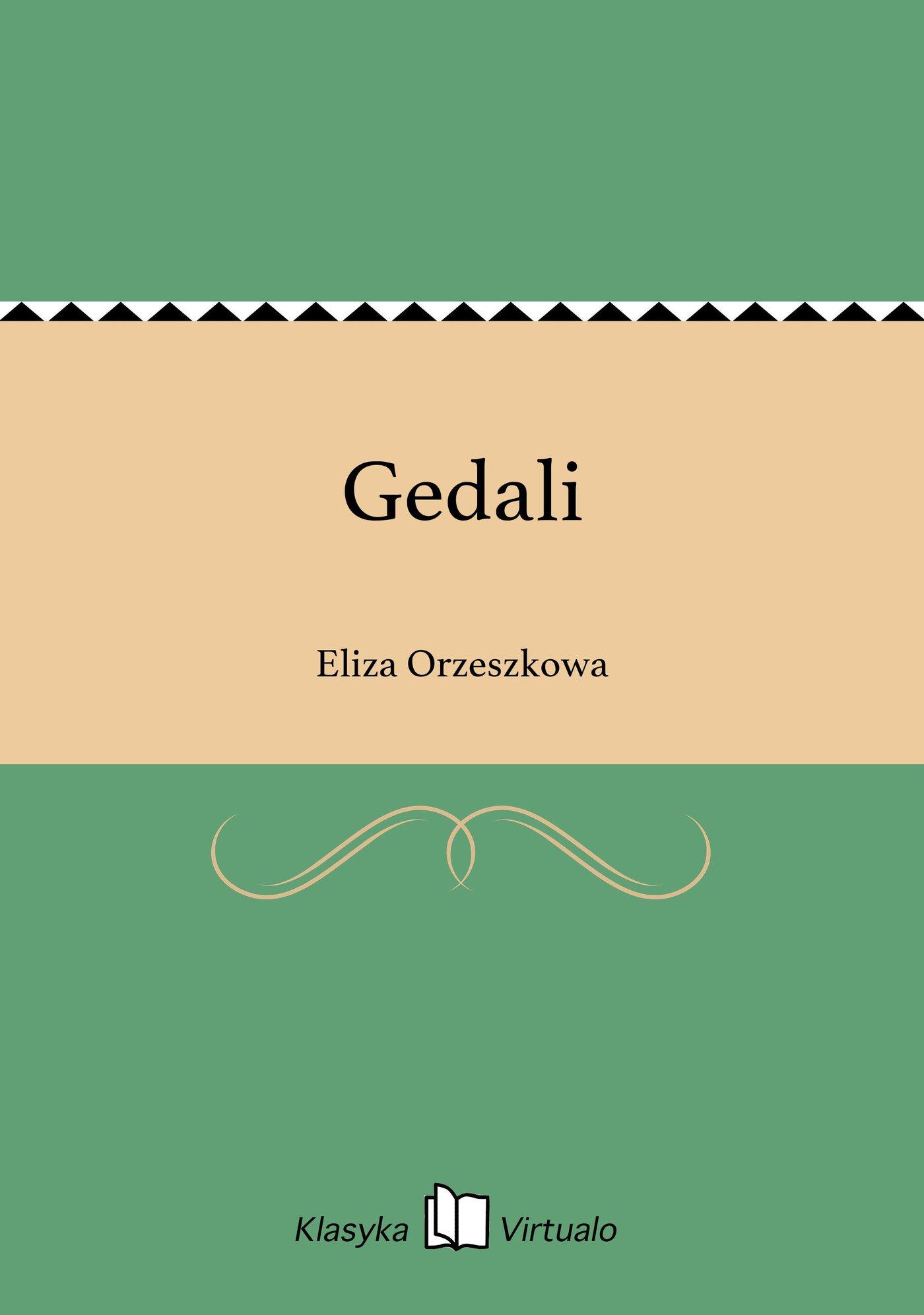 Gedali - Ebook (Książka EPUB) do pobrania w formacie EPUB