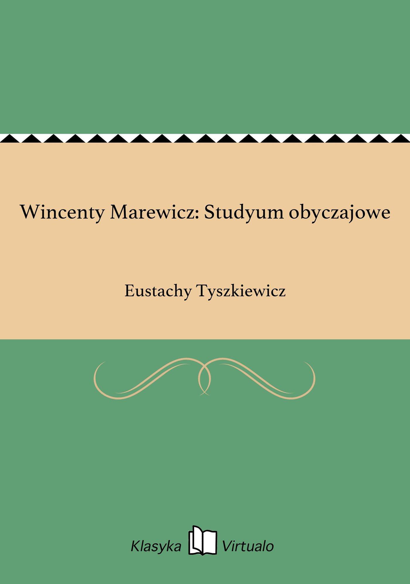 Wincenty Marewicz: Studyum obyczajowe - Ebook (Książka EPUB) do pobrania w formacie EPUB