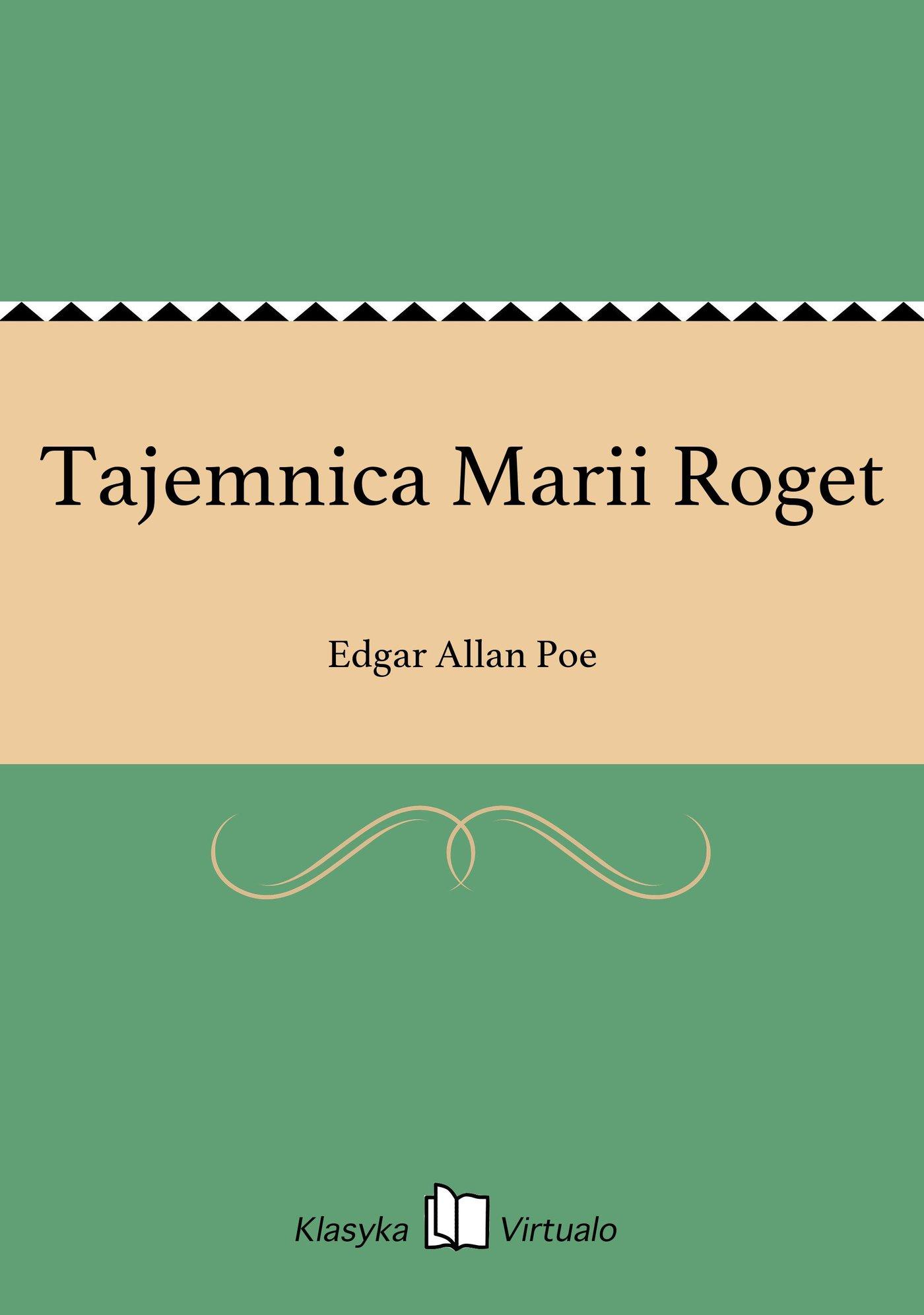 Tajemnica Marii Roget - Ebook (Książka EPUB) do pobrania w formacie EPUB