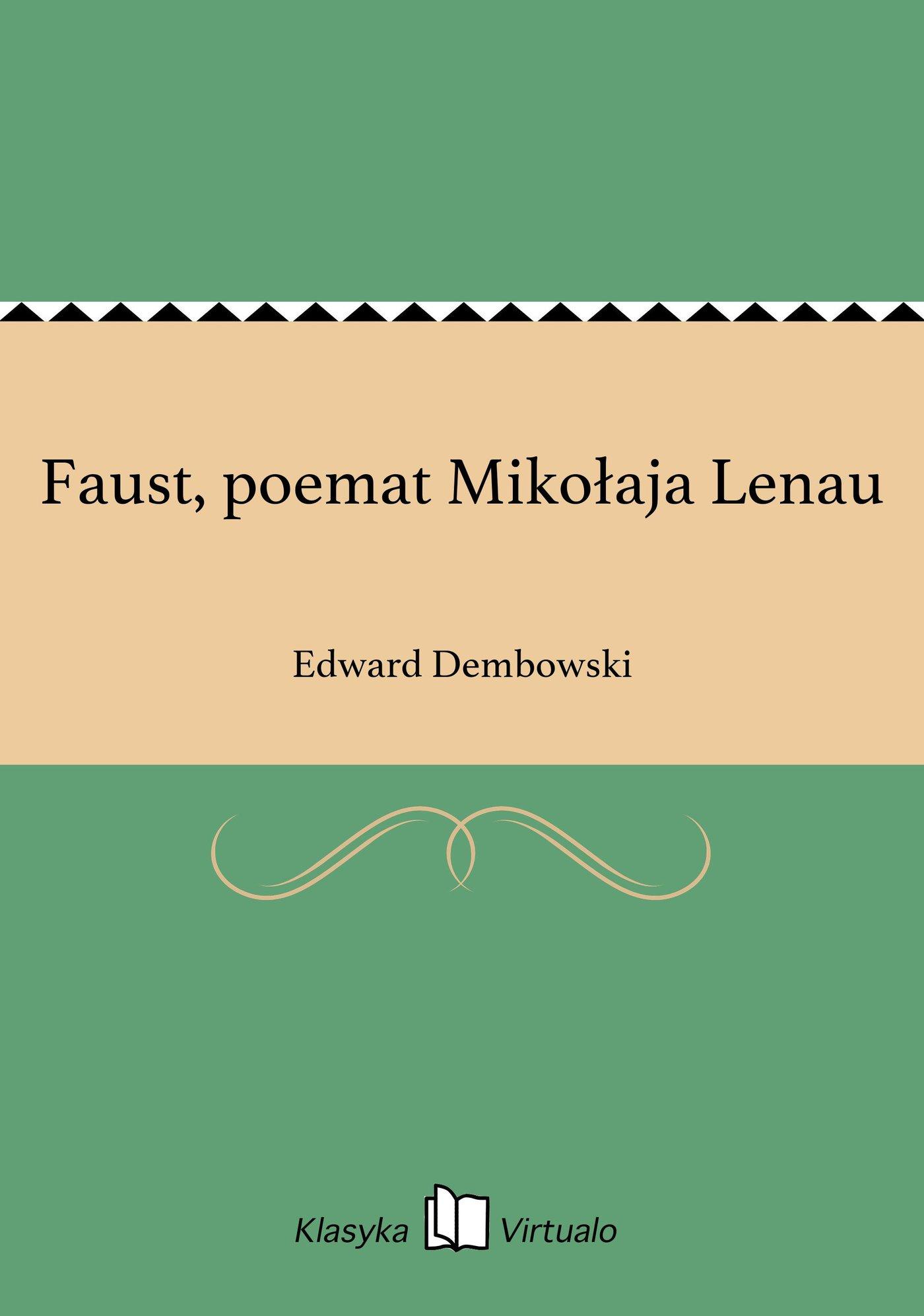 Faust, poemat Mikołaja Lenau - Ebook (Książka EPUB) do pobrania w formacie EPUB