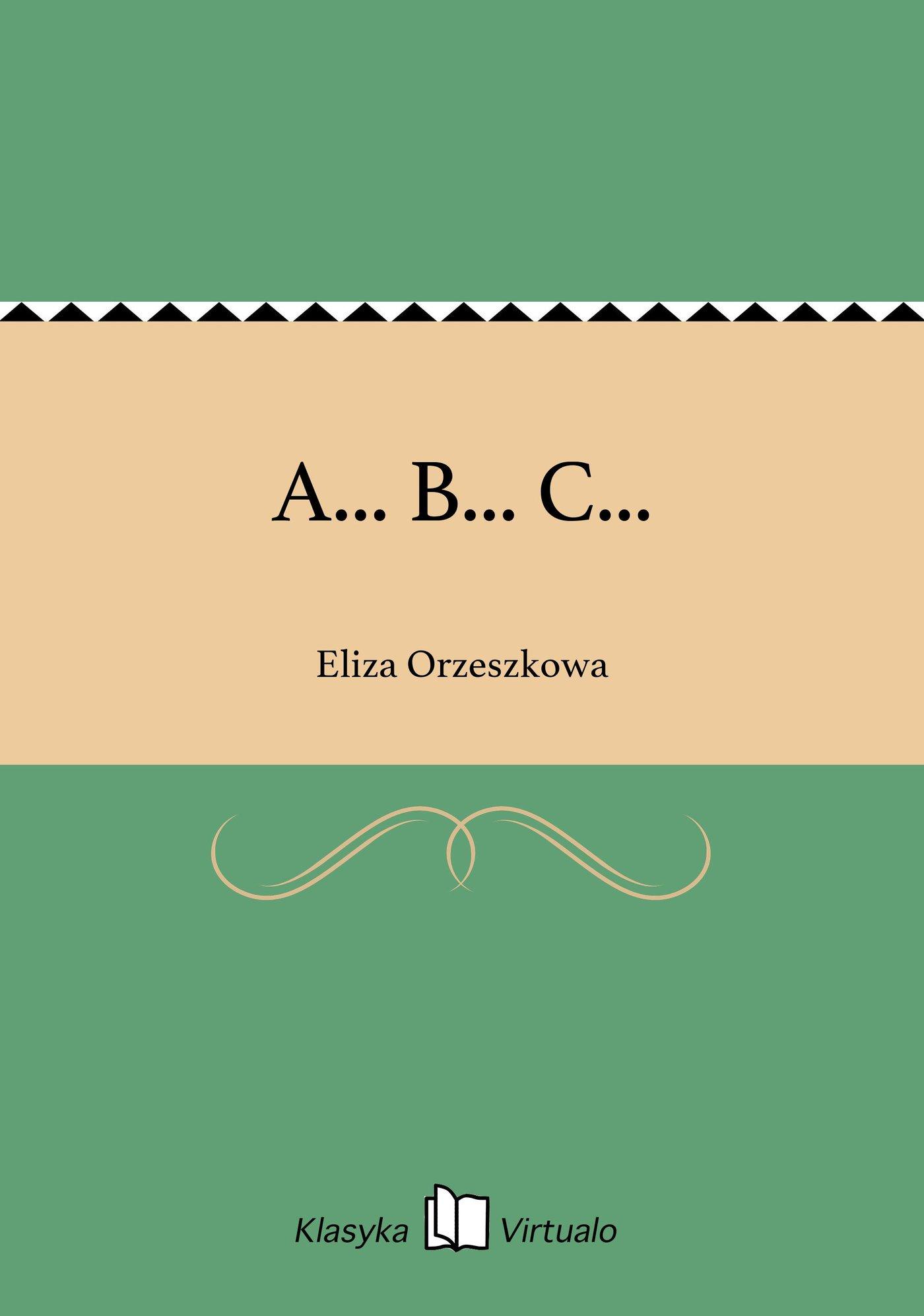 A... B... C... - Ebook (Książka EPUB) do pobrania w formacie EPUB