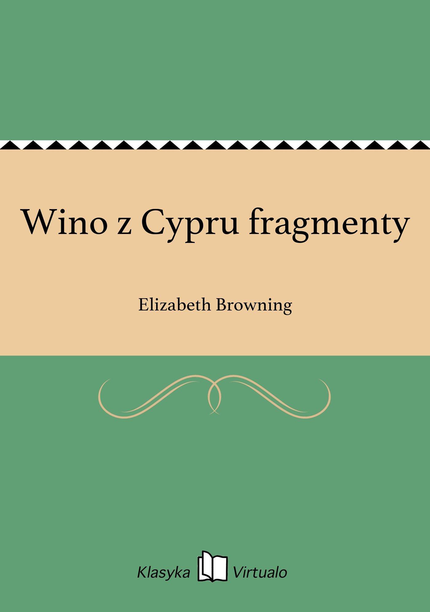 Wino z Cypru fragmenty - Ebook (Książka EPUB) do pobrania w formacie EPUB