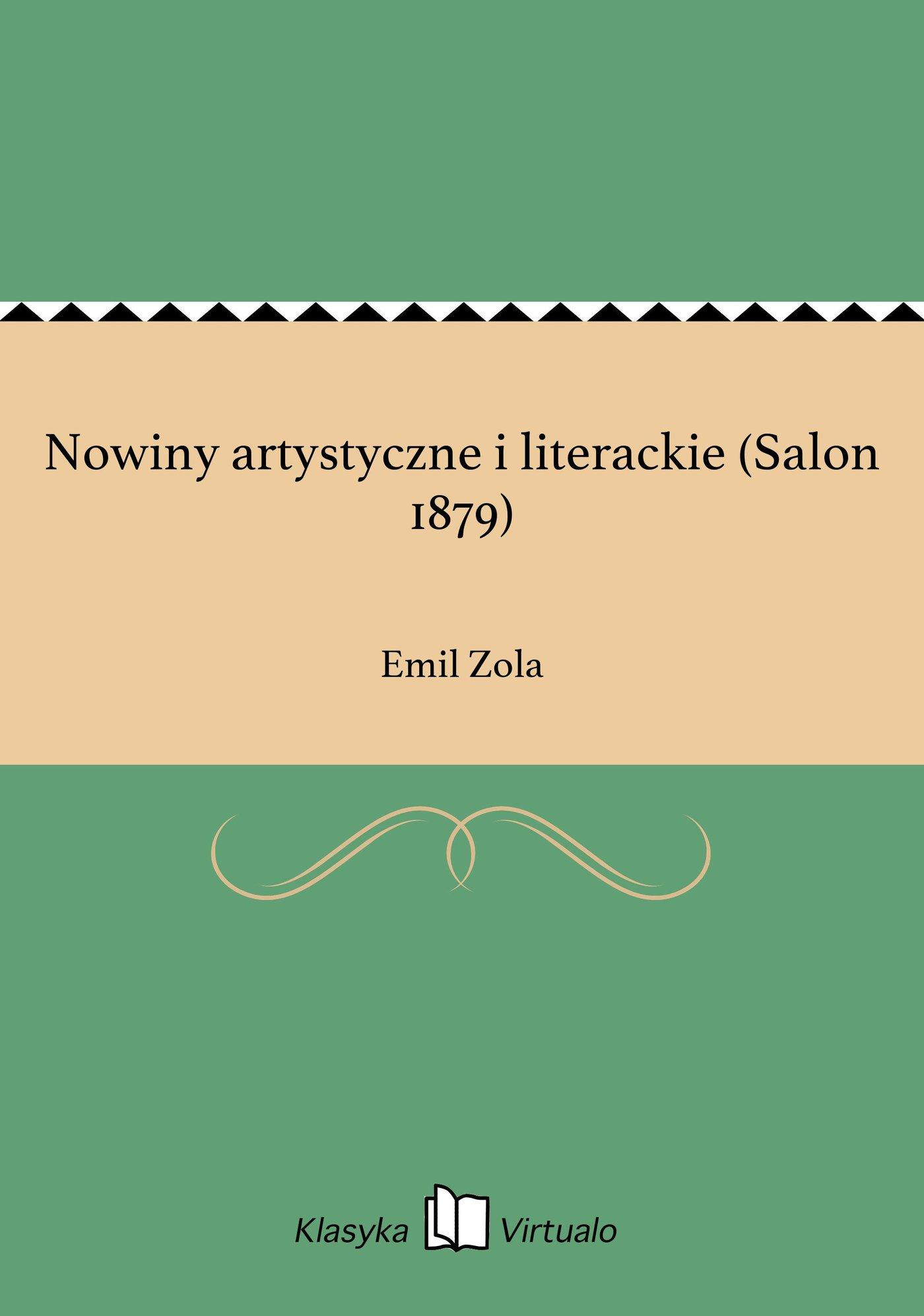 Nowiny artystyczne i literackie (Salon 1879) - Ebook (Książka EPUB) do pobrania w formacie EPUB