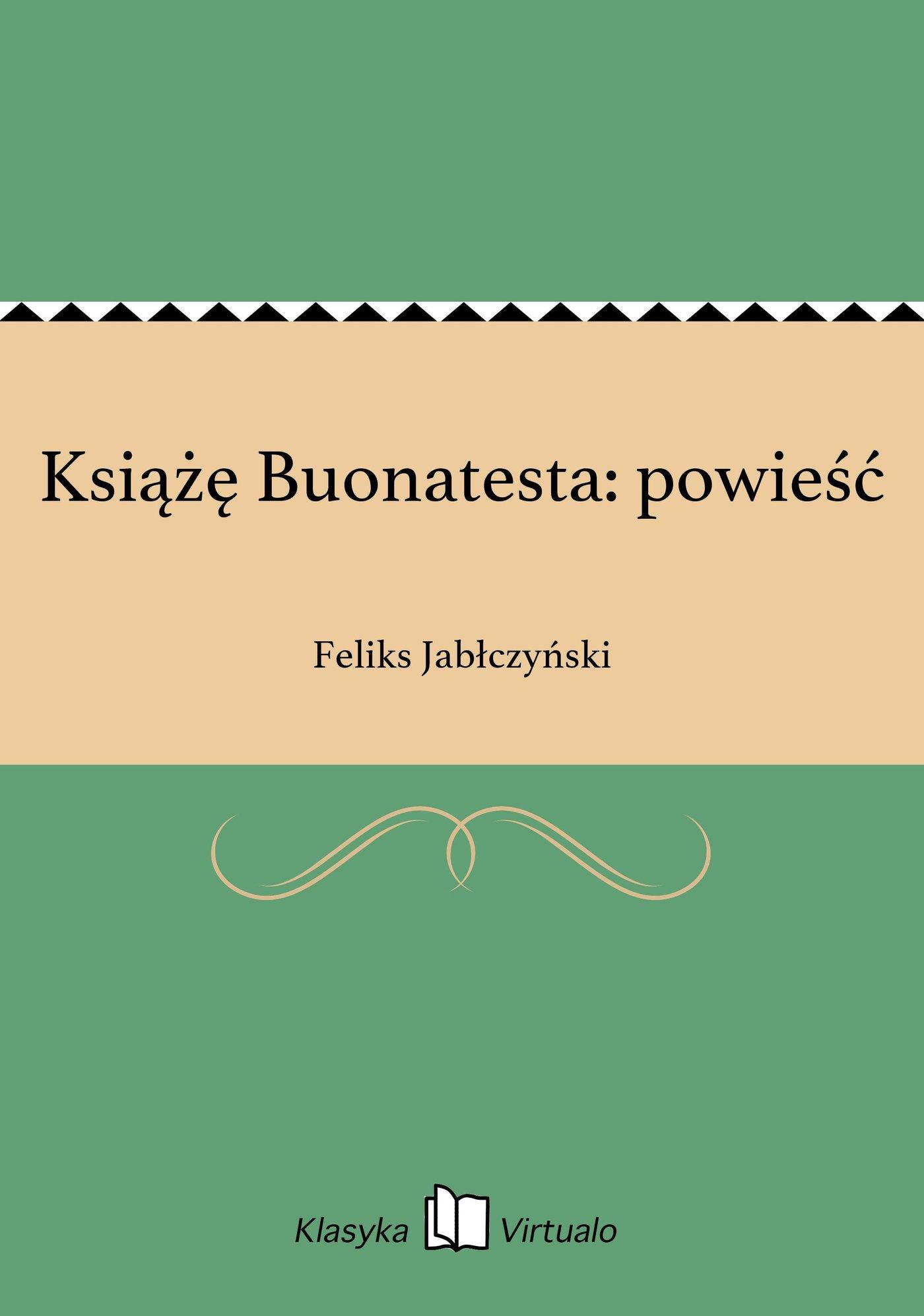 Książę Buonatesta: powieść - Ebook (Książka EPUB) do pobrania w formacie EPUB