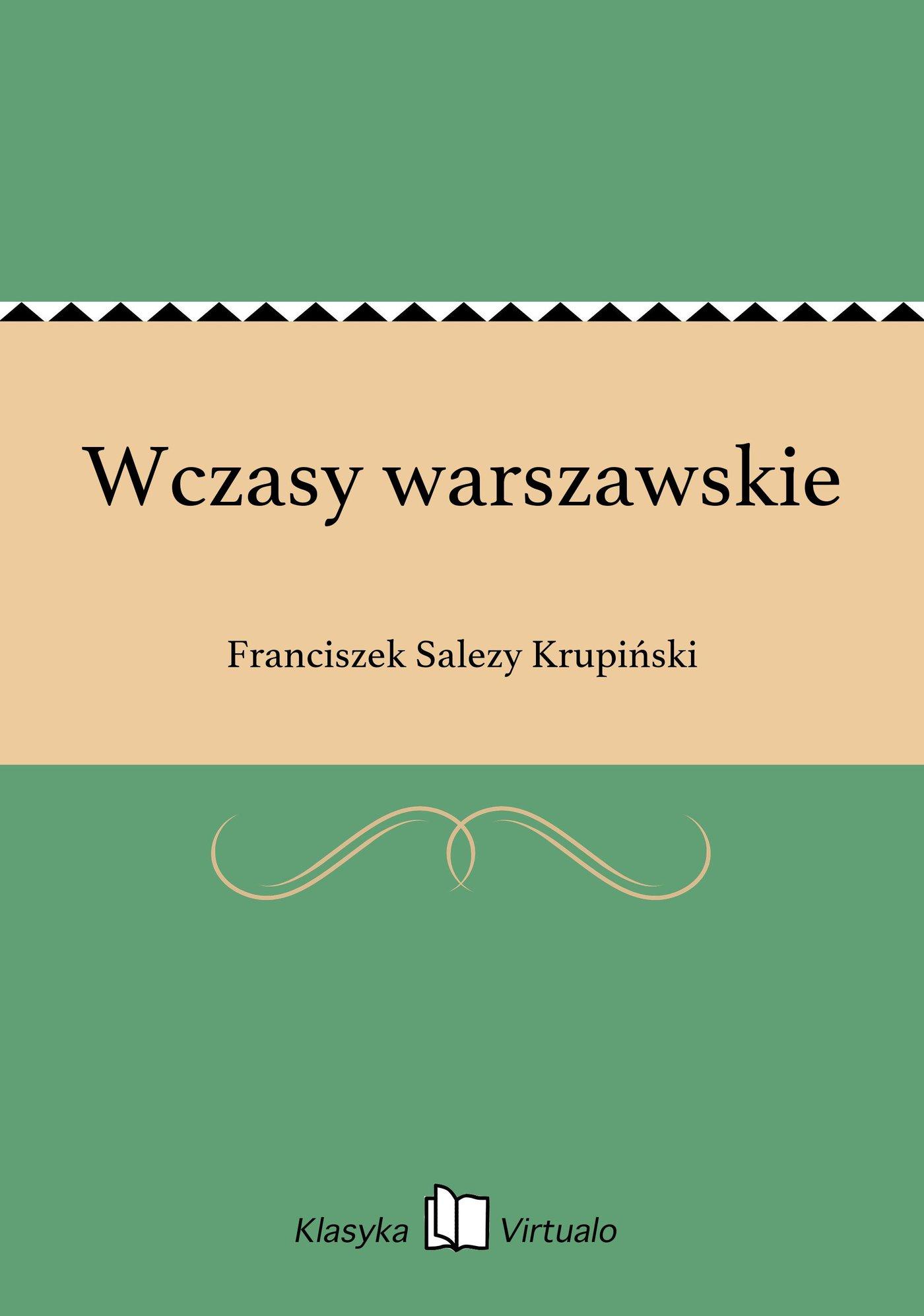 Wczasy warszawskie - Ebook (Książka EPUB) do pobrania w formacie EPUB