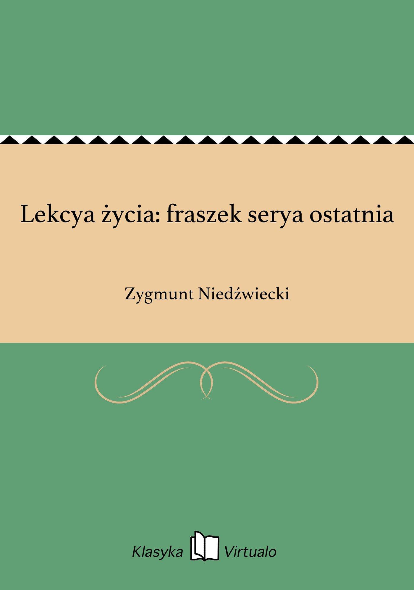 Lekcya życia: fraszek serya ostatnia - Ebook (Książka EPUB) do pobrania w formacie EPUB