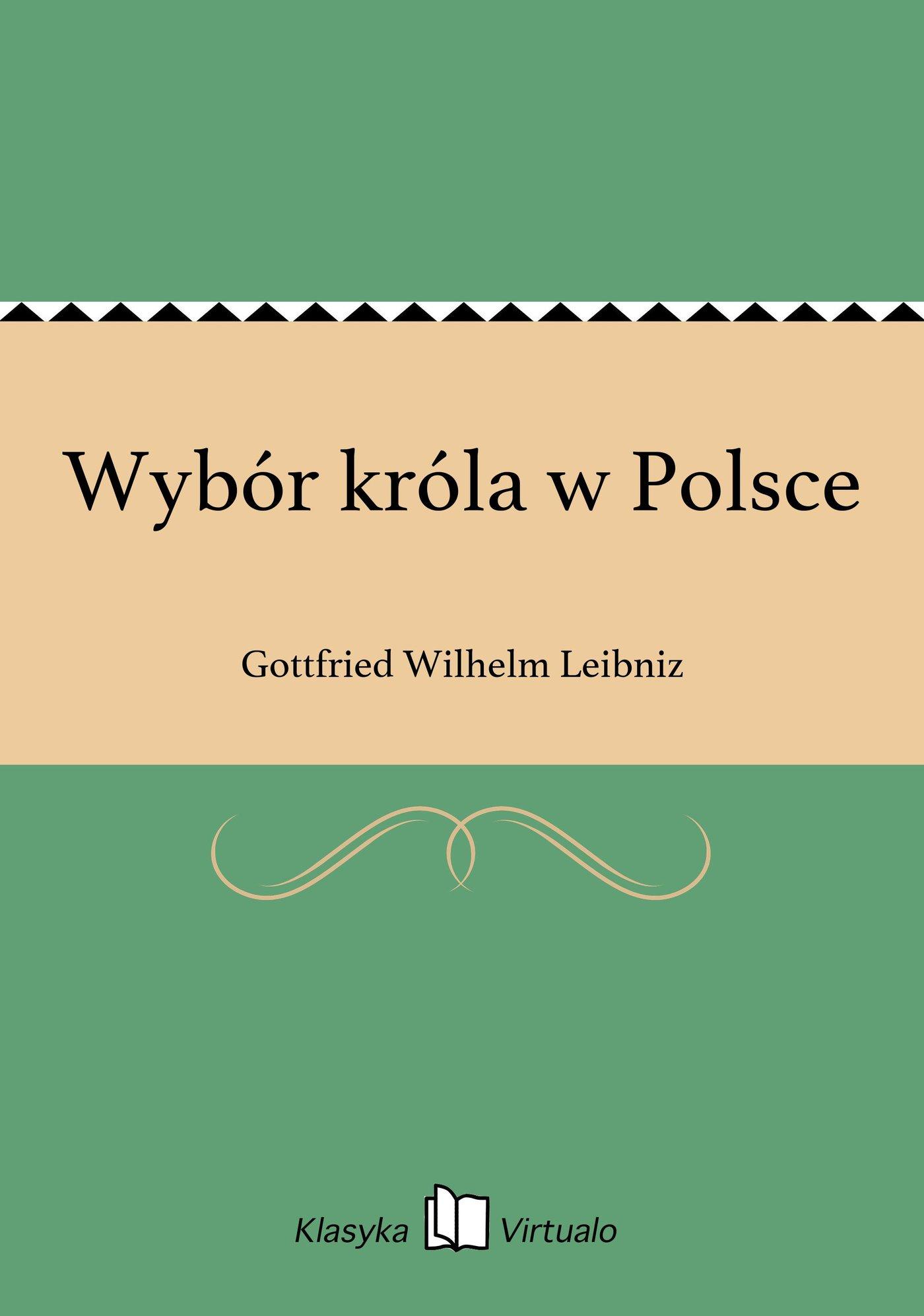 Wybór króla w Polsce - Ebook (Książka EPUB) do pobrania w formacie EPUB
