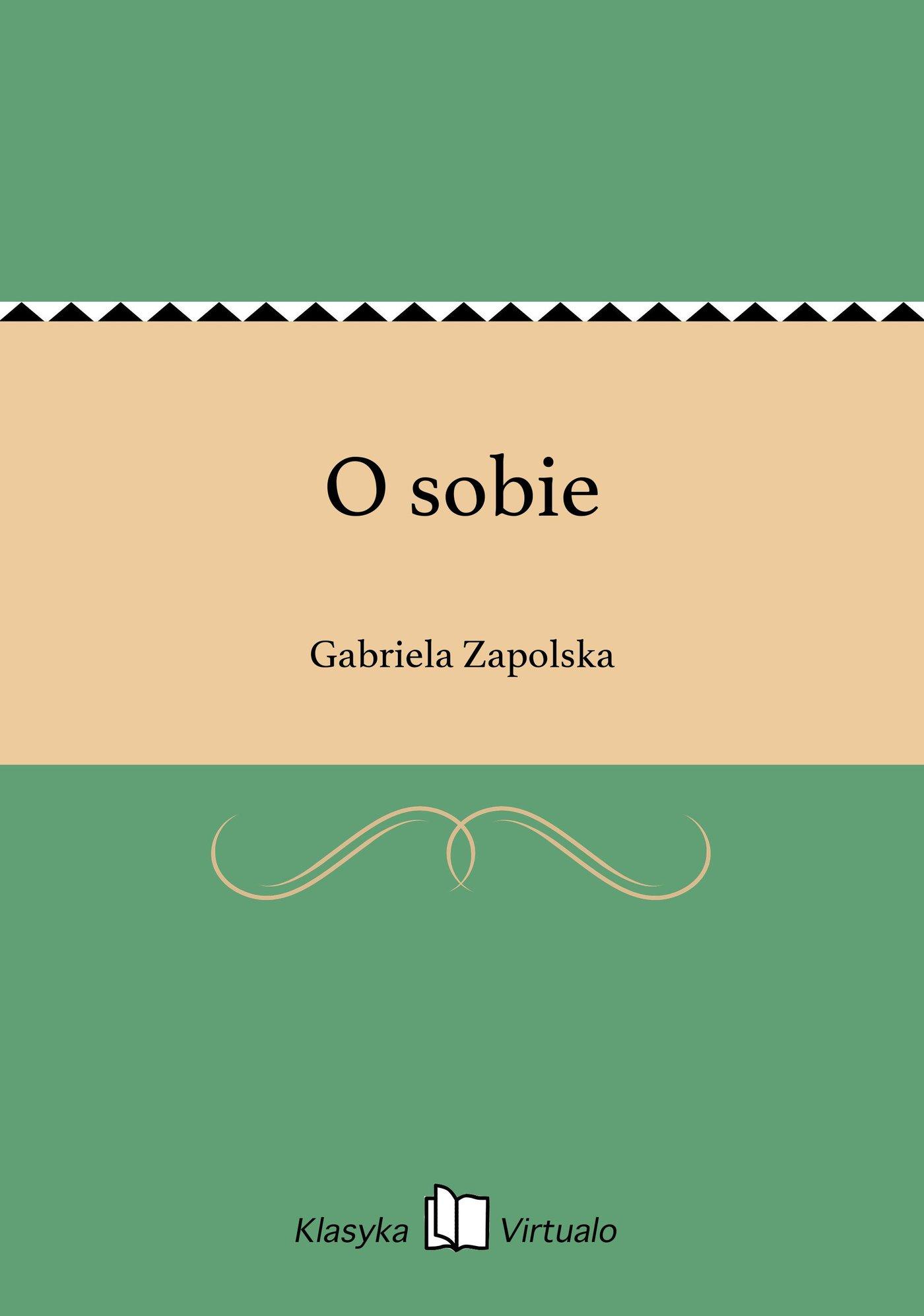 O sobie - Ebook (Książka EPUB) do pobrania w formacie EPUB