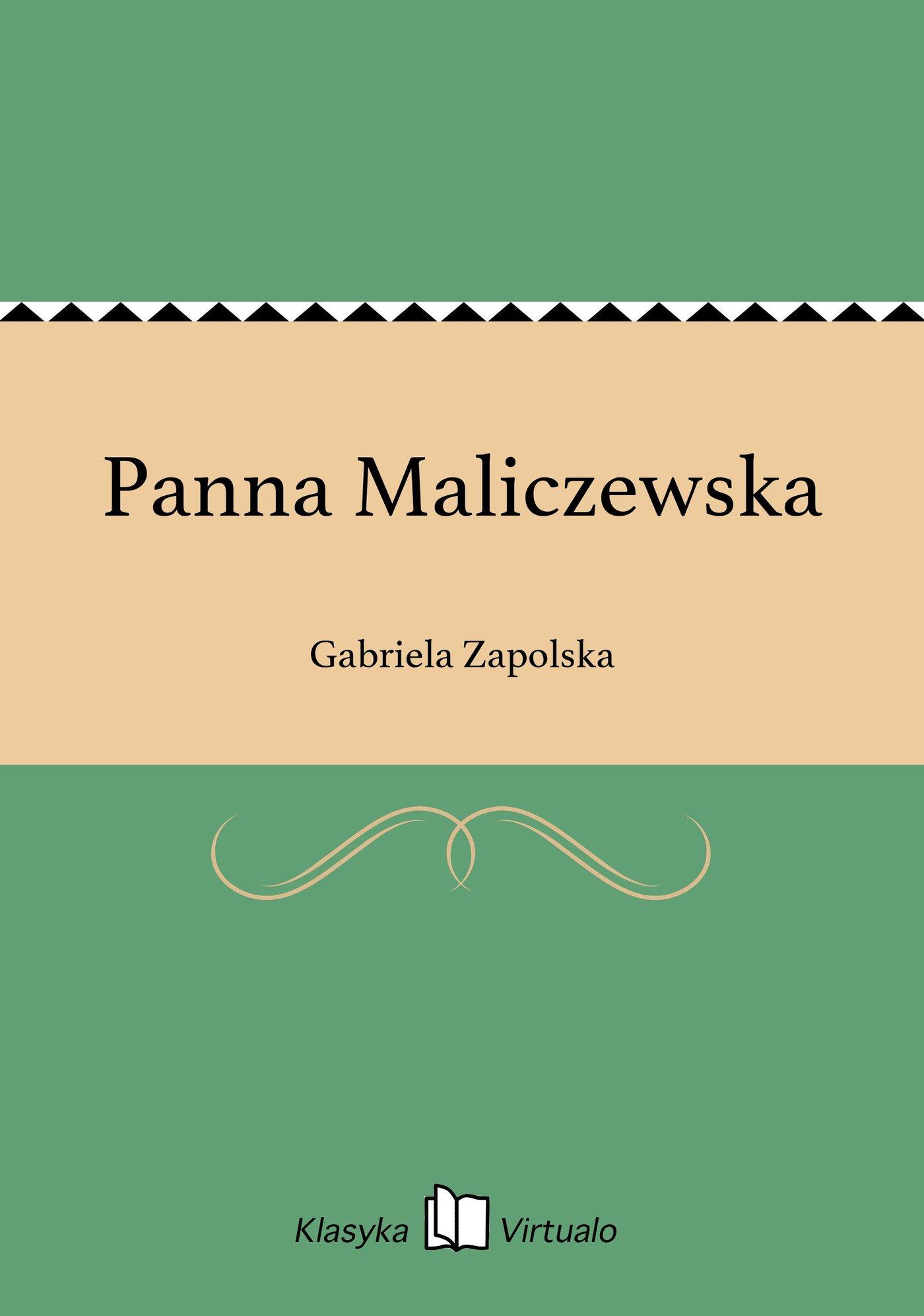 Panna Maliczewska - Ebook (Książka EPUB) do pobrania w formacie EPUB