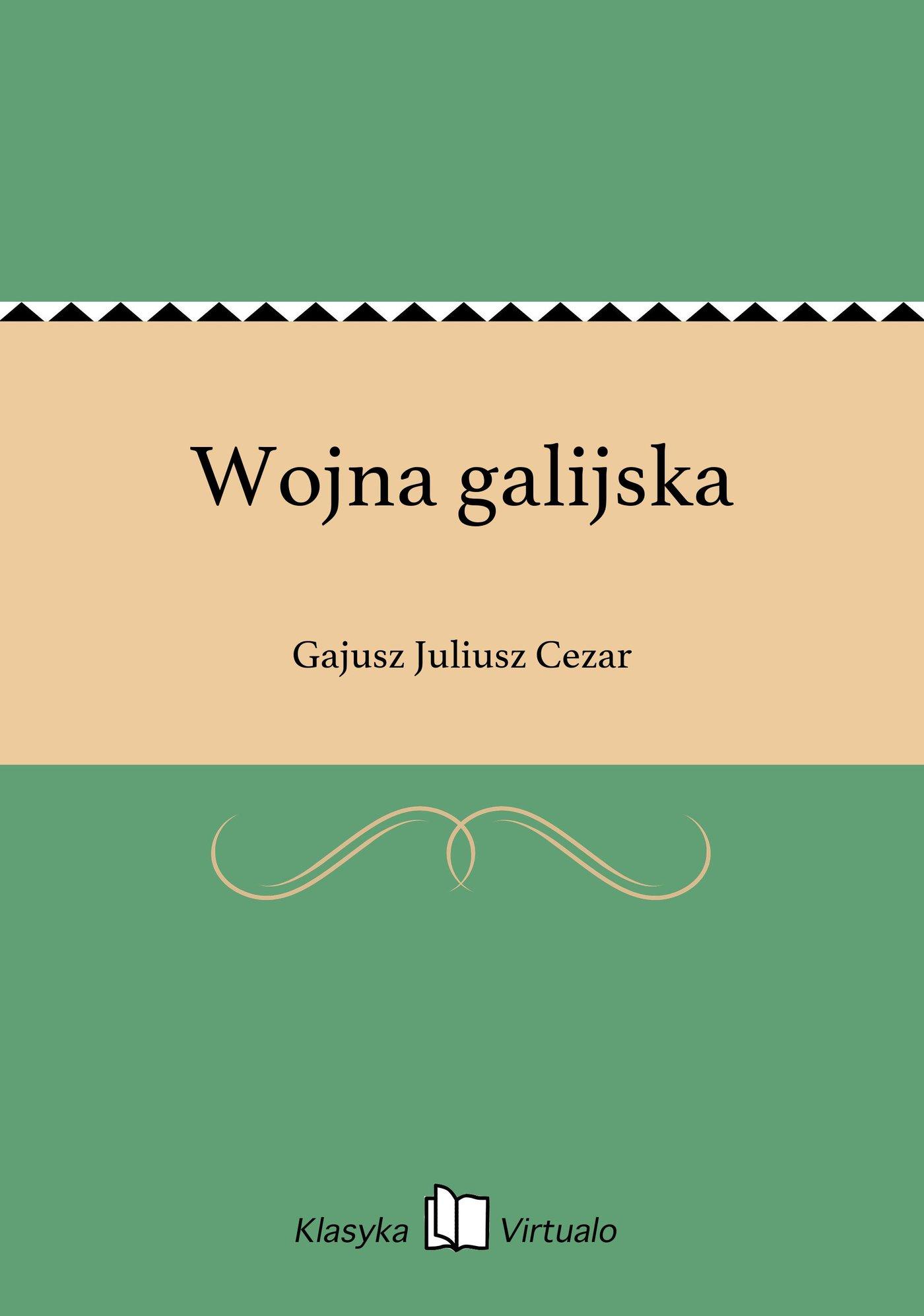 Wojna galijska - Ebook (Książka EPUB) do pobrania w formacie EPUB