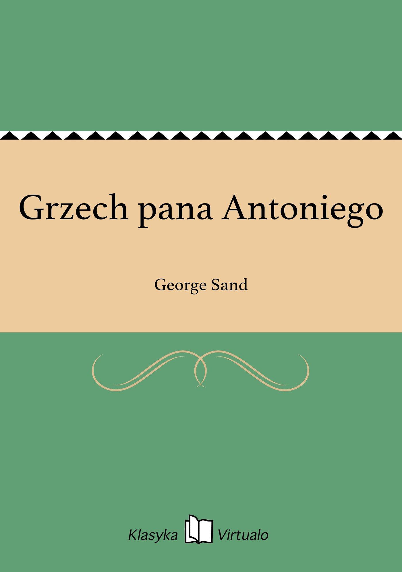 Grzech pana Antoniego - Ebook (Książka EPUB) do pobrania w formacie EPUB
