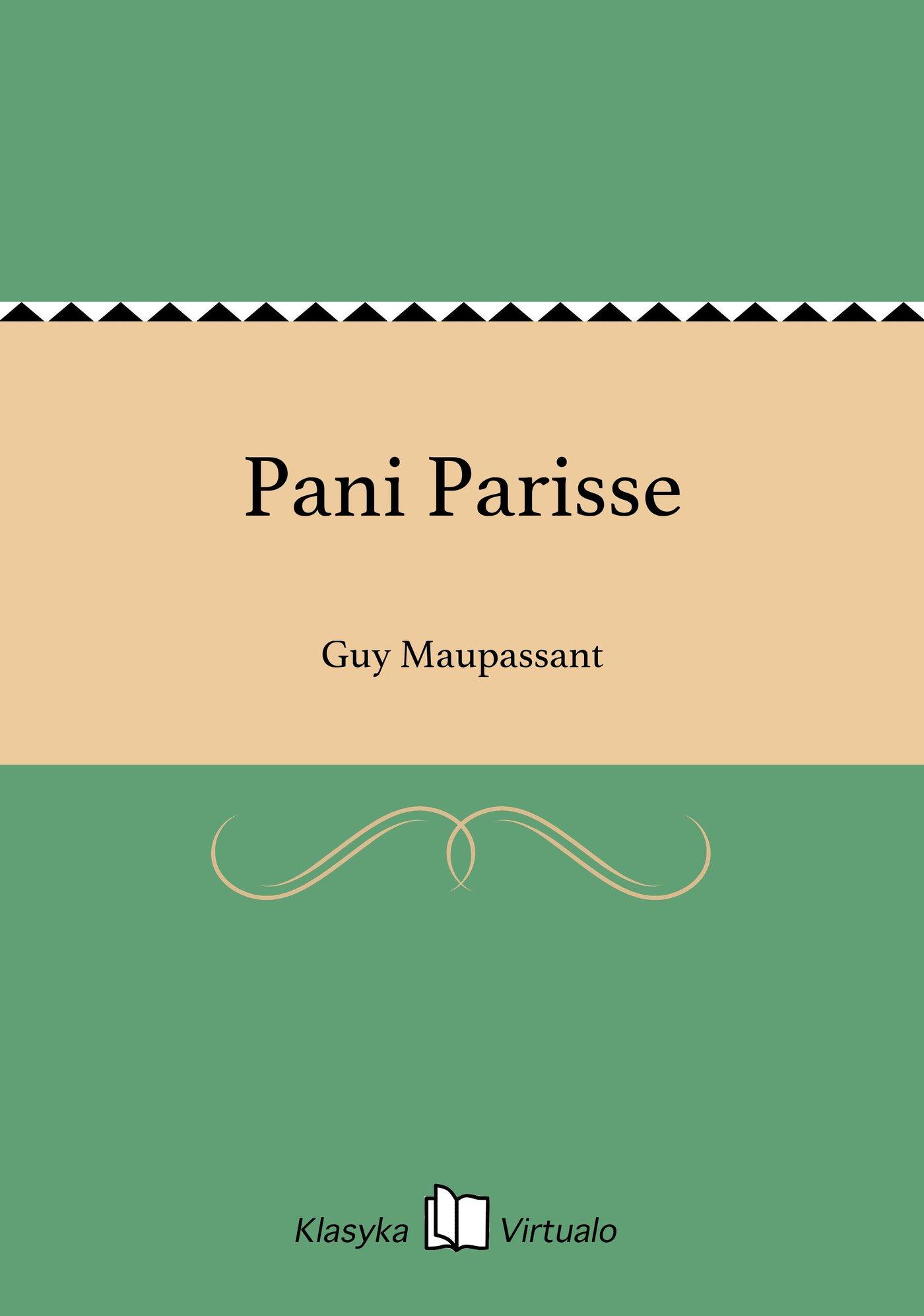Pani Parisse - Ebook (Książka EPUB) do pobrania w formacie EPUB