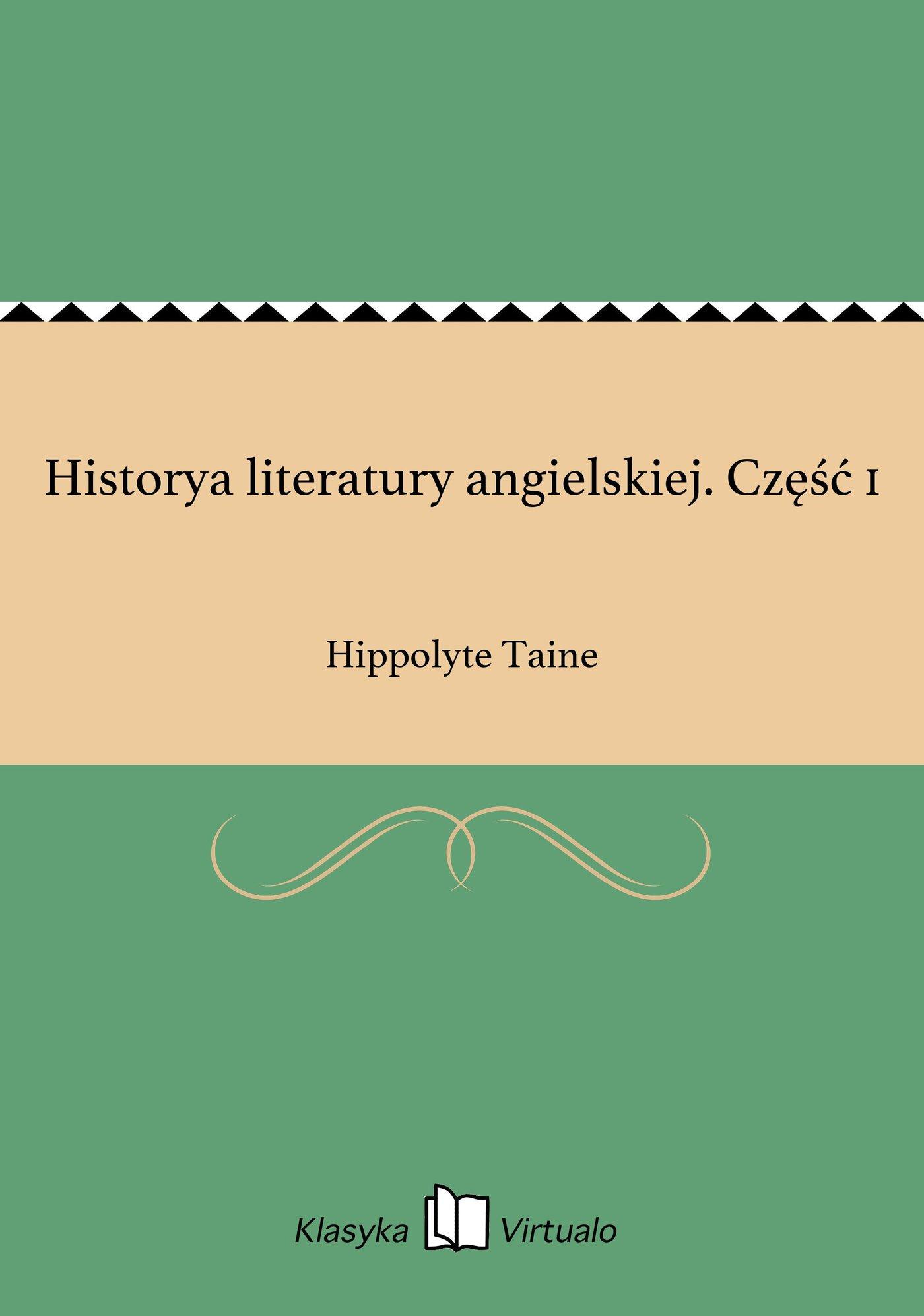 Historya literatury angielskiej. Część 1 - Ebook (Książka EPUB) do pobrania w formacie EPUB